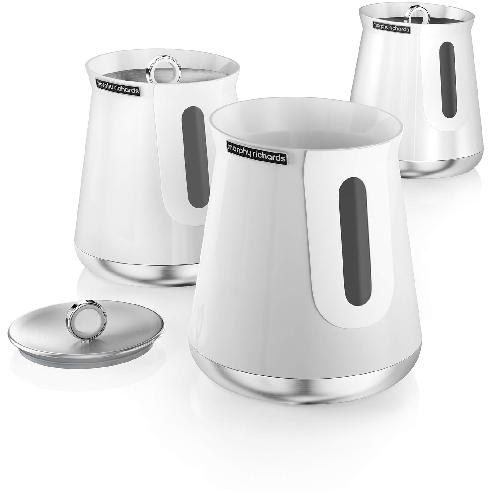 Morphy Richards 972051 Aspect Set of 3 Canisters - White