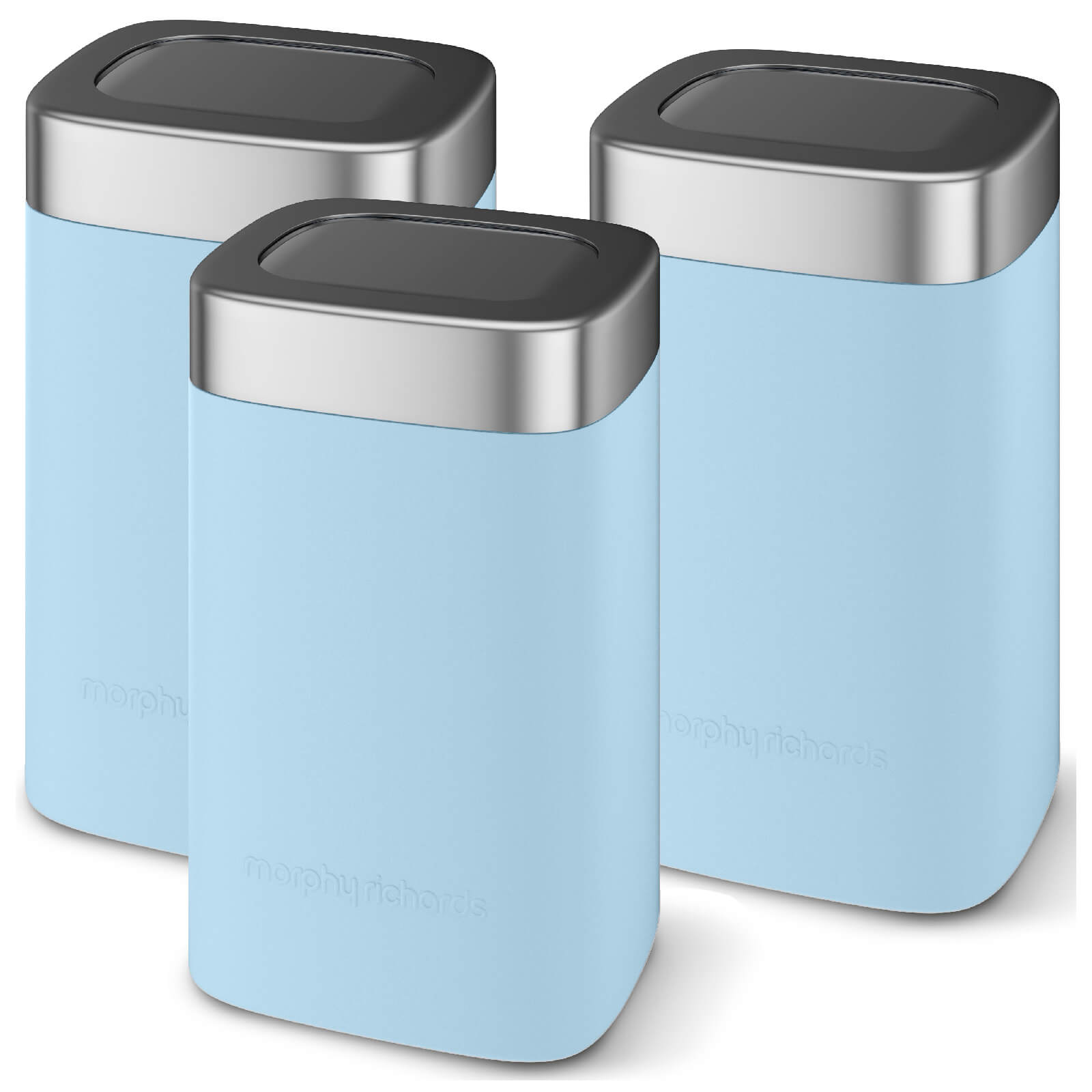 Morphy Richards 974072 Accents Set Of 3 Canisters - Blue