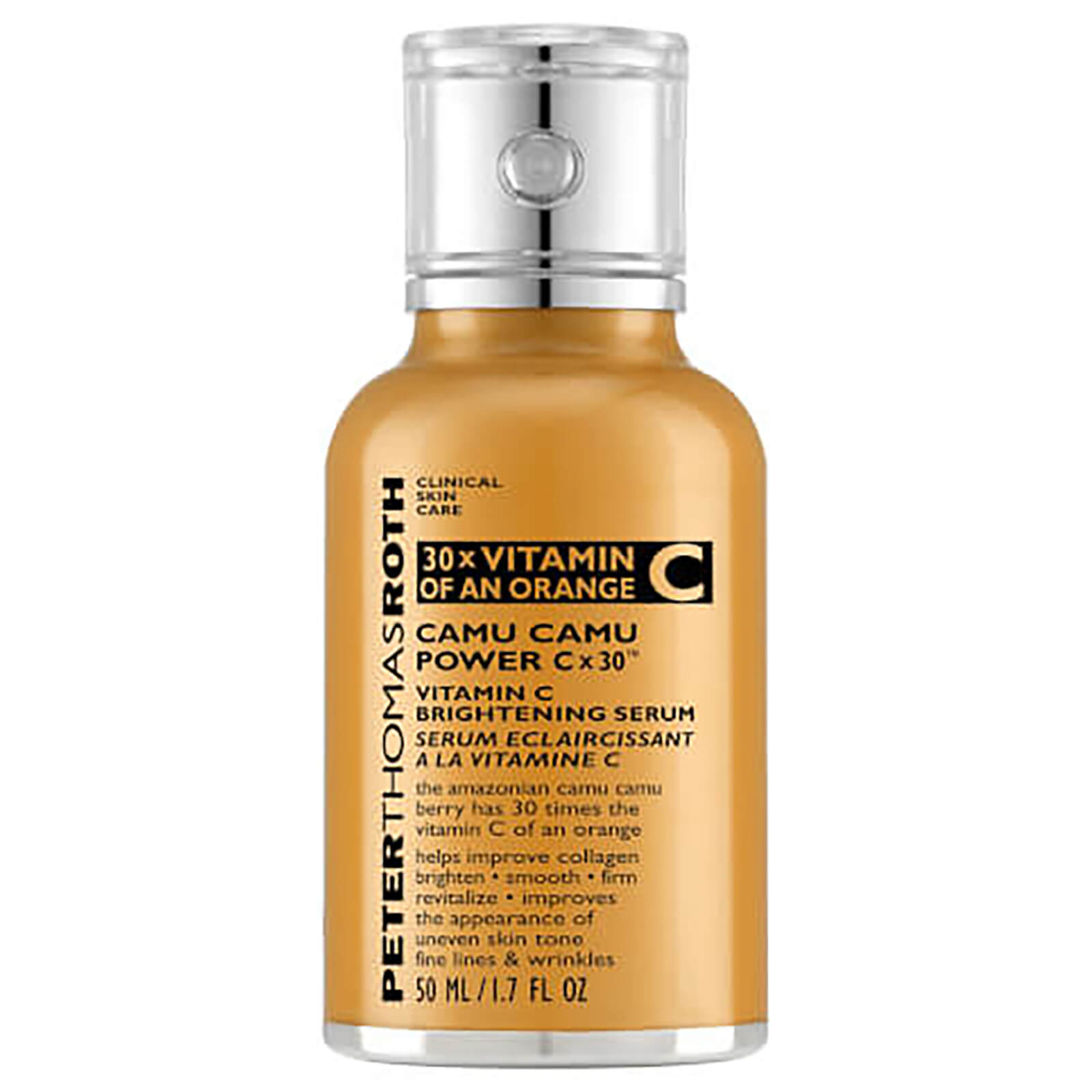 Image result for PETER THOMAS ROTH CAMU CAMU POWER C X30 VITAMIN C BRIGHTENING SERUM