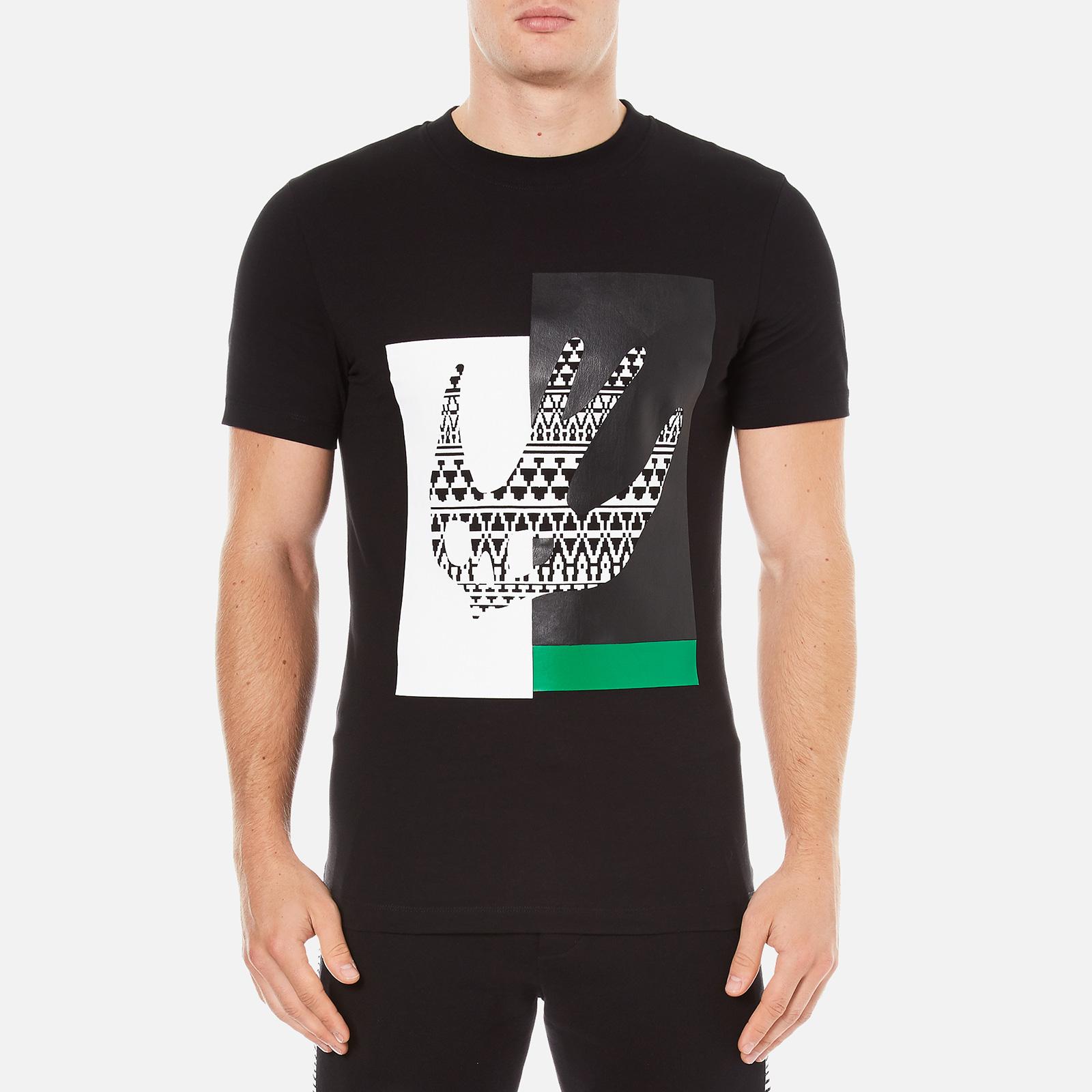 52bbc74cb57 McQ Alexander McQueen Men s Abstract Swallow Short Sleeve Crew T-Shirt - Darkest  Black - Free UK Delivery over £50