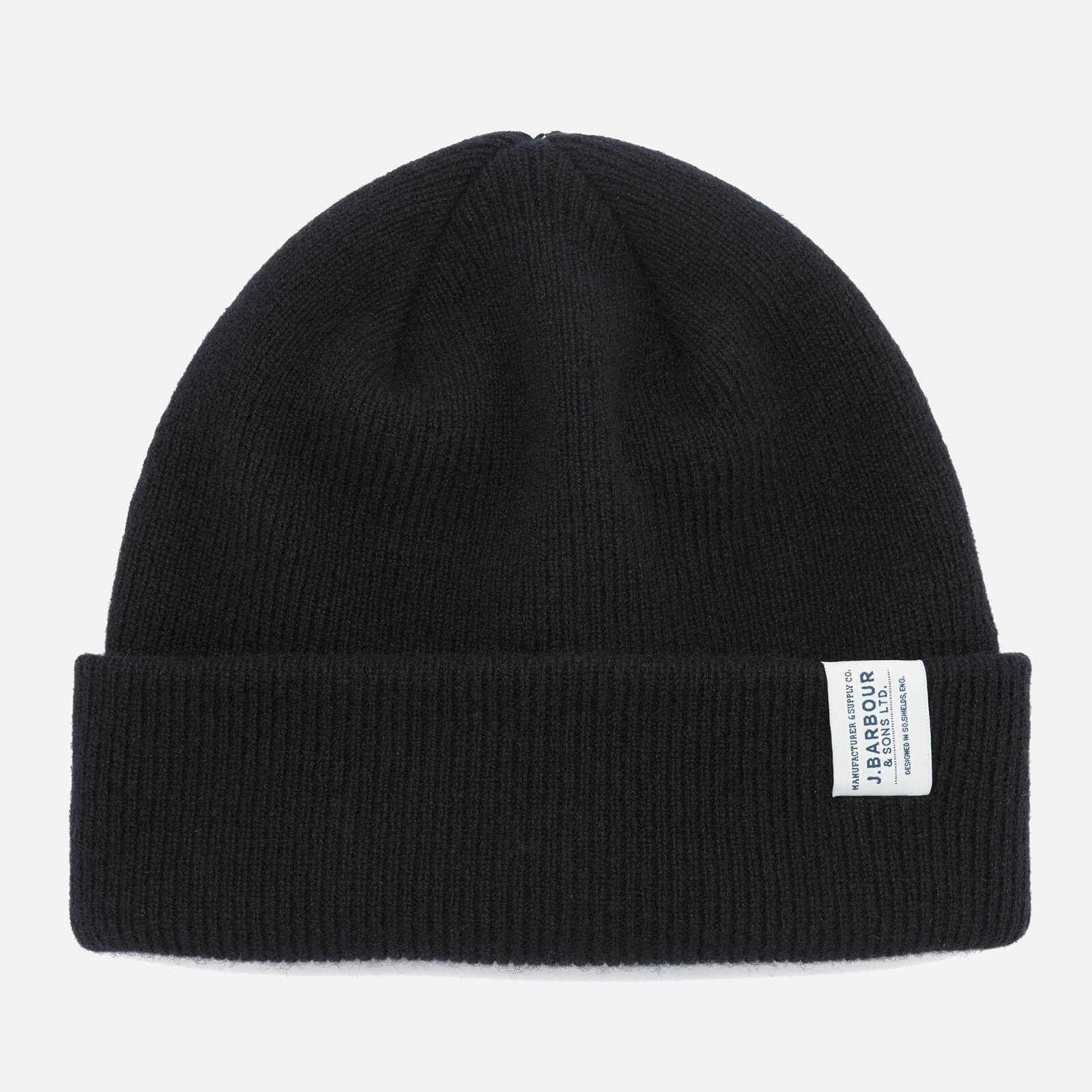 1318a94cc3b Barbour Men s Lambswool Watch Cap Beanie - Black Mens Accessories ...