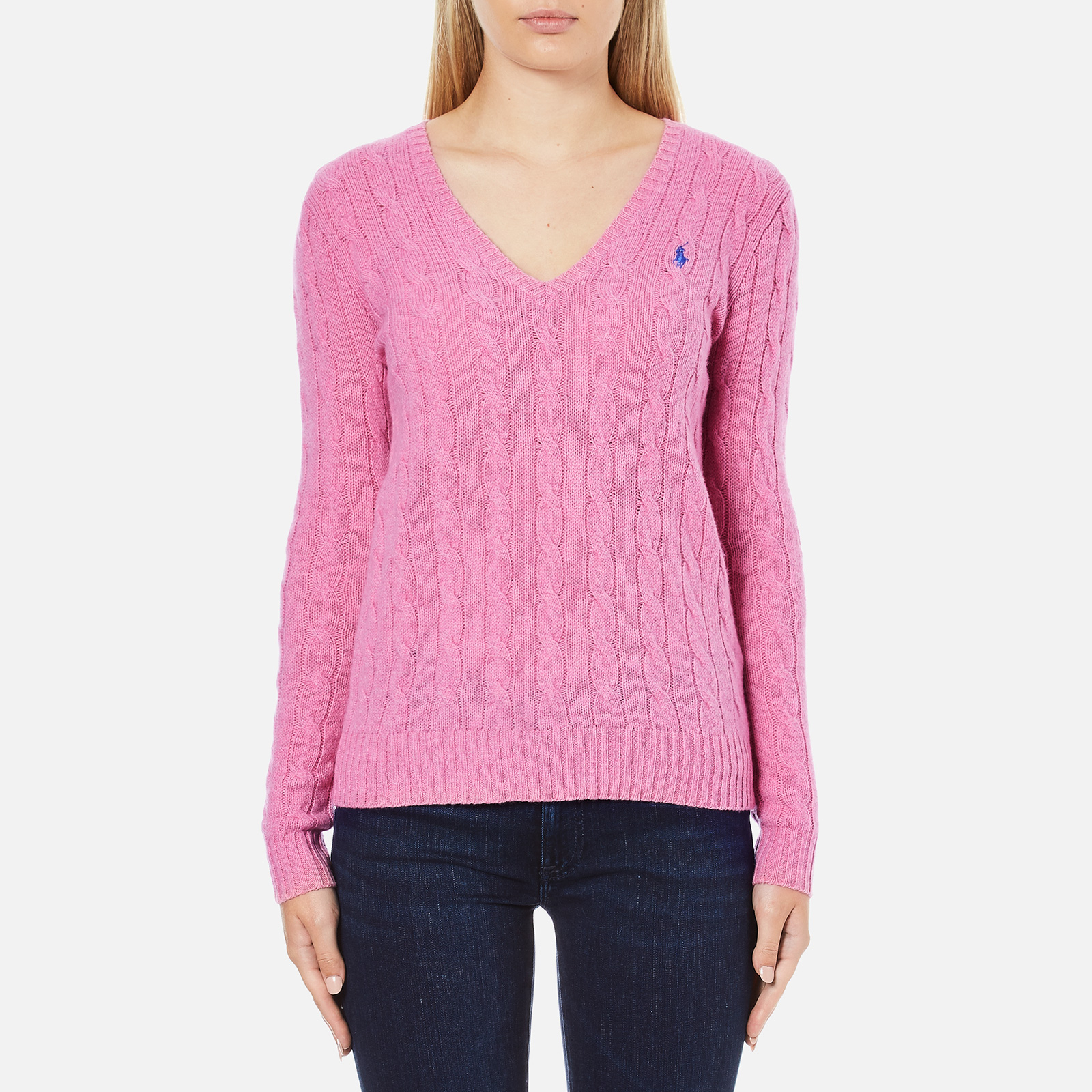 44105e70681f1a Polo Ralph Lauren Women's Kimberly Cashmere Blend Jumper - Wesley Pink  Heather - Free UK Delivery over £50