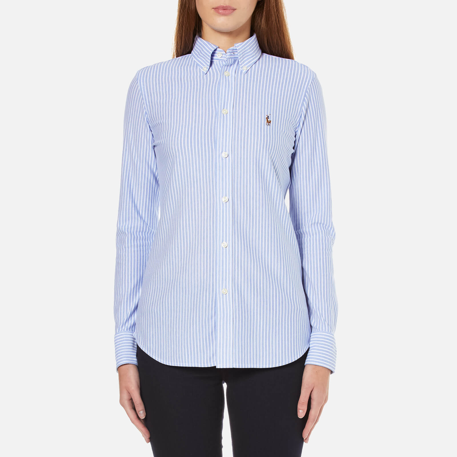 10a89426bb Polo Ralph Lauren Women's Heidi Stripe Shirt - Bermuda Blue/White - Free UK  Delivery over £50