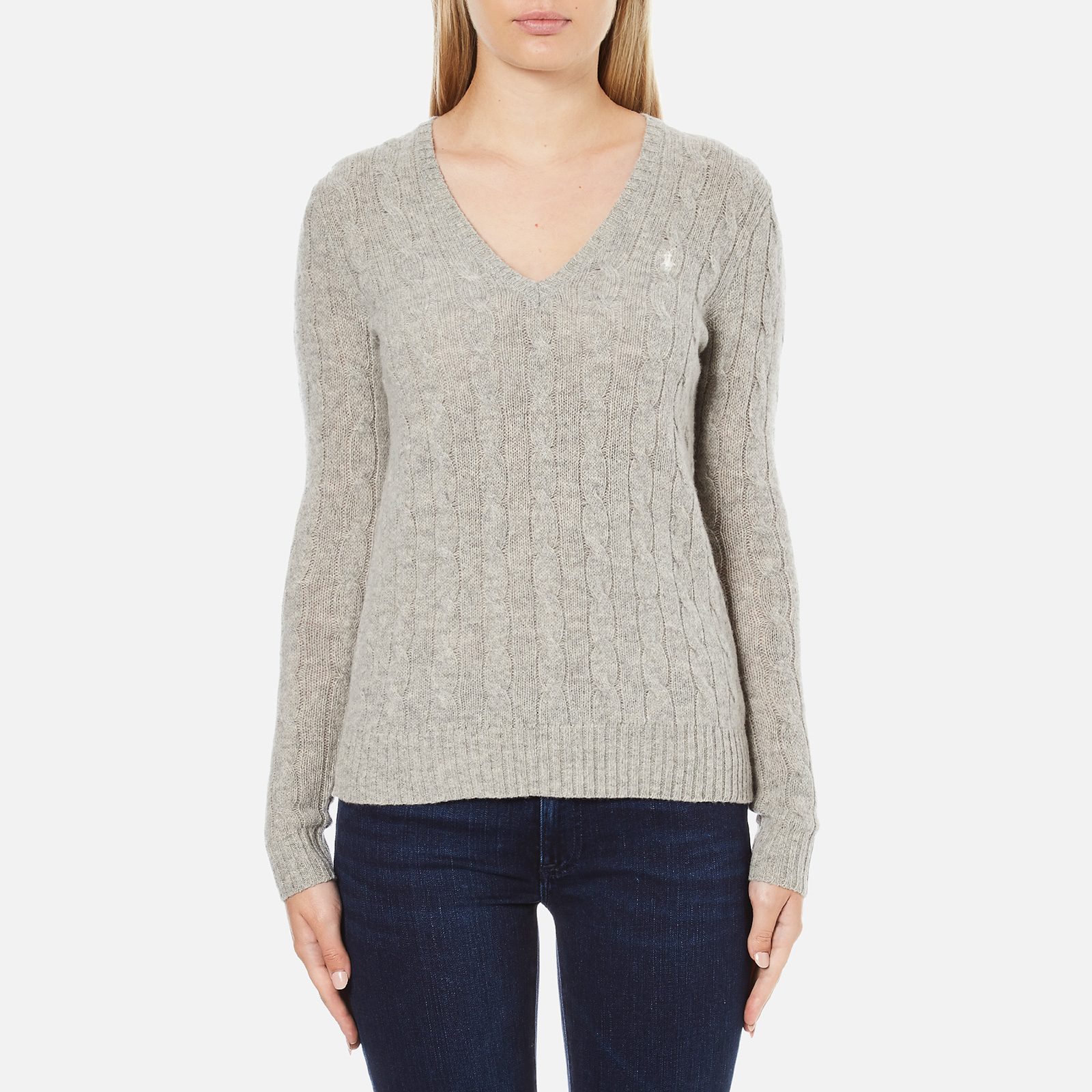 22583ddbe Polo Ralph Lauren Women s Kimberly Cashmere Blend Jumper - Light Vintage  Heather - Free UK Delivery over £50