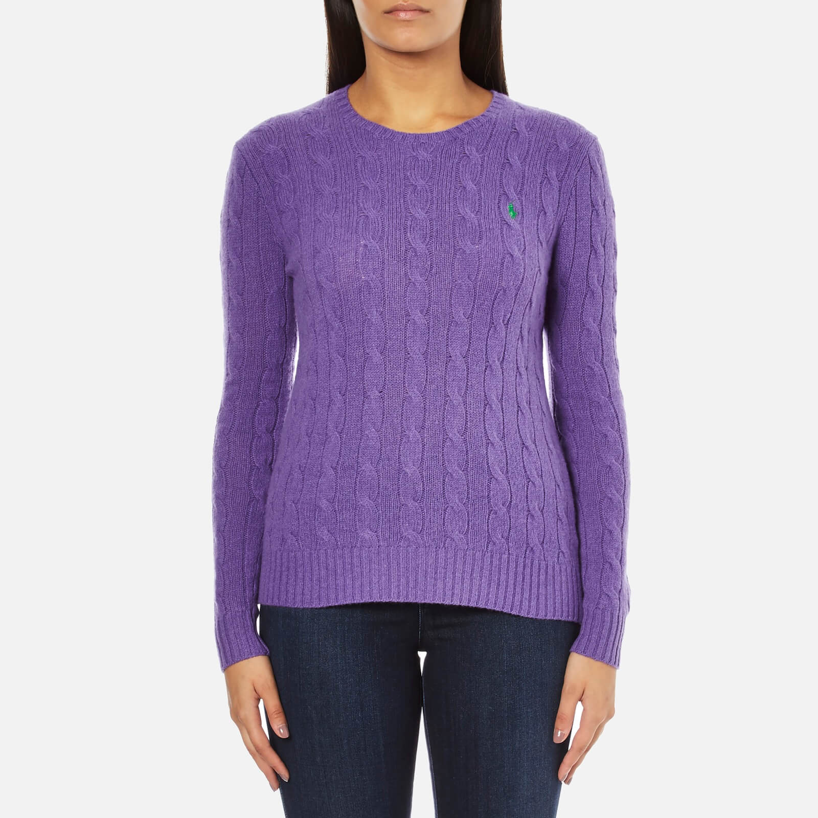 Purple Women's Blend Neck Cashmere Jumper Polo Crew Spencer Ralph Lauren Julianna 2EH9DI