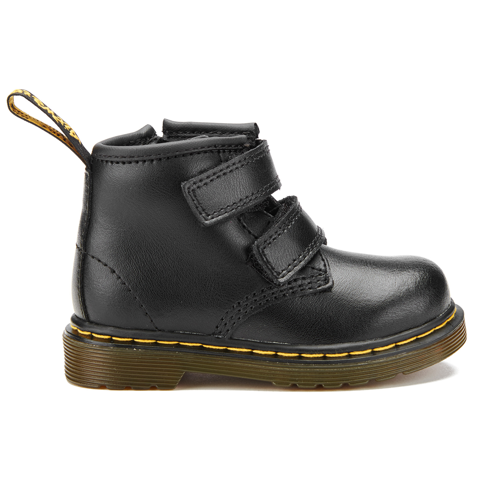 Dr. Martens Toddlers' Brooklee BV Velcro Leather Boots Black