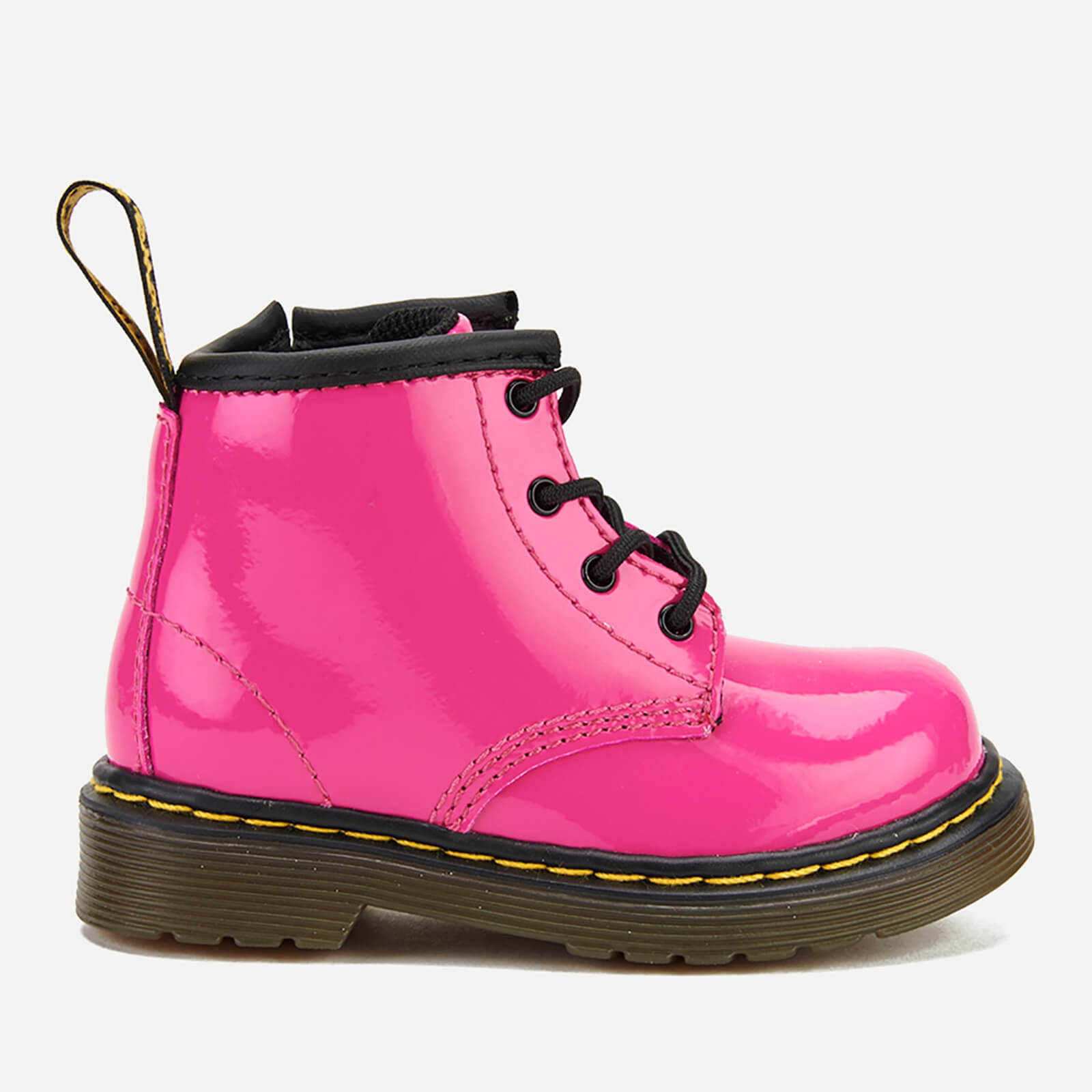 Dr. Martens Toddlers' 1460 I Patent Lamper Lace Up Boots Hot Pink