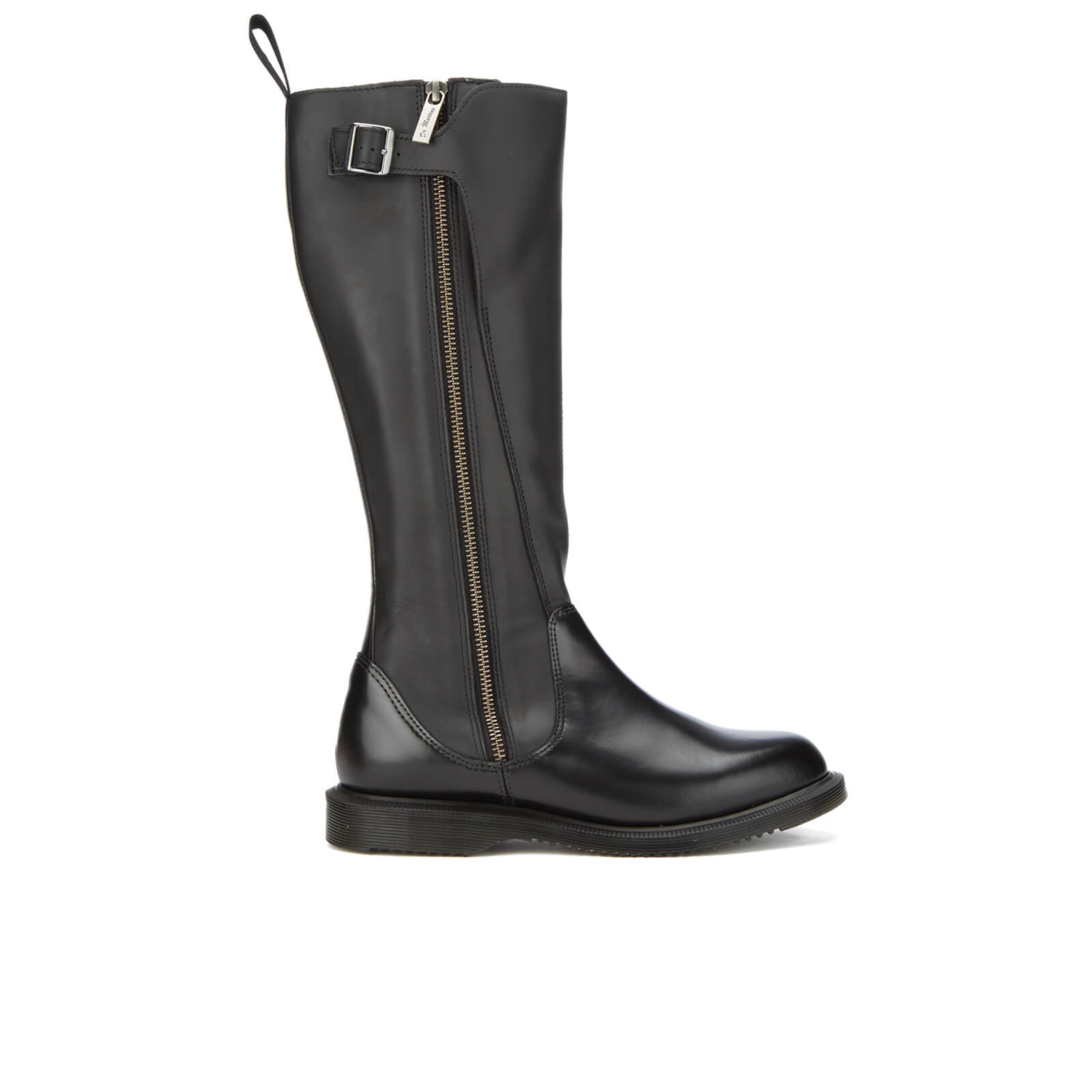 90a9676ccb6 Dr. Martens Women's Chianna Polished Smooth Knee High Boots - Black