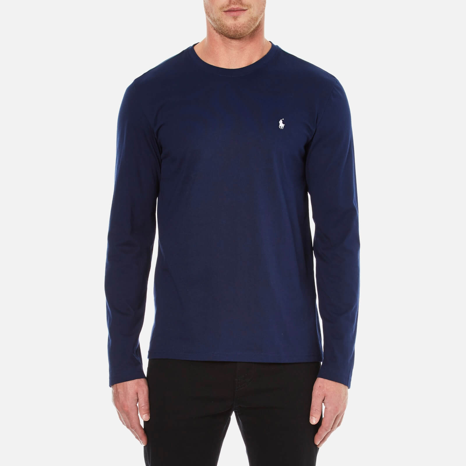 10510385 Polo Ralph Lauren Men's Long Sleeve Crew T-Shirt - Cruise Navy - Free UK  Delivery over £50