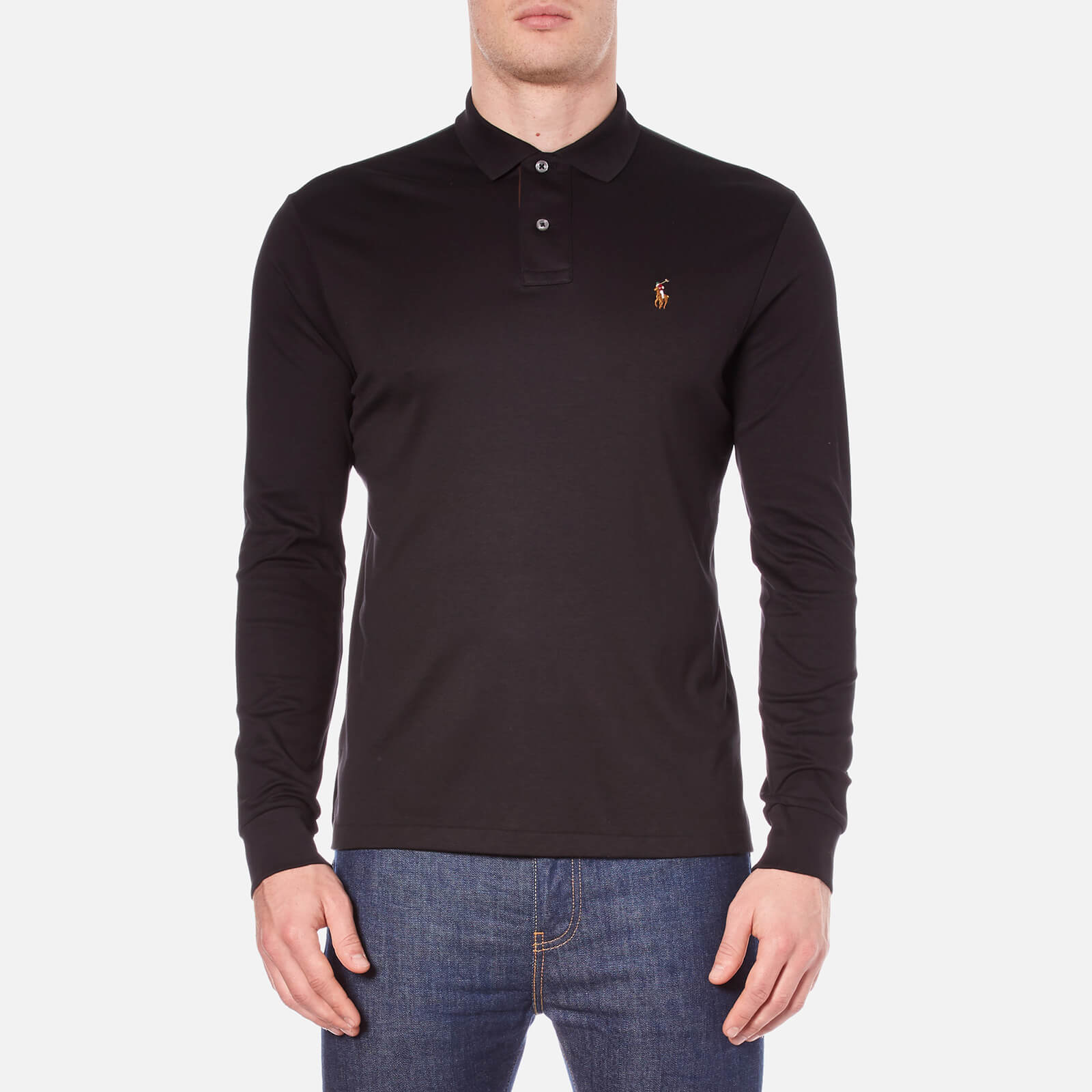 74456363b2aa Polo Ralph Lauren Men's Long Sleeve Custom Fit Polo Shirt - Polo Black -  Free UK Delivery over £50