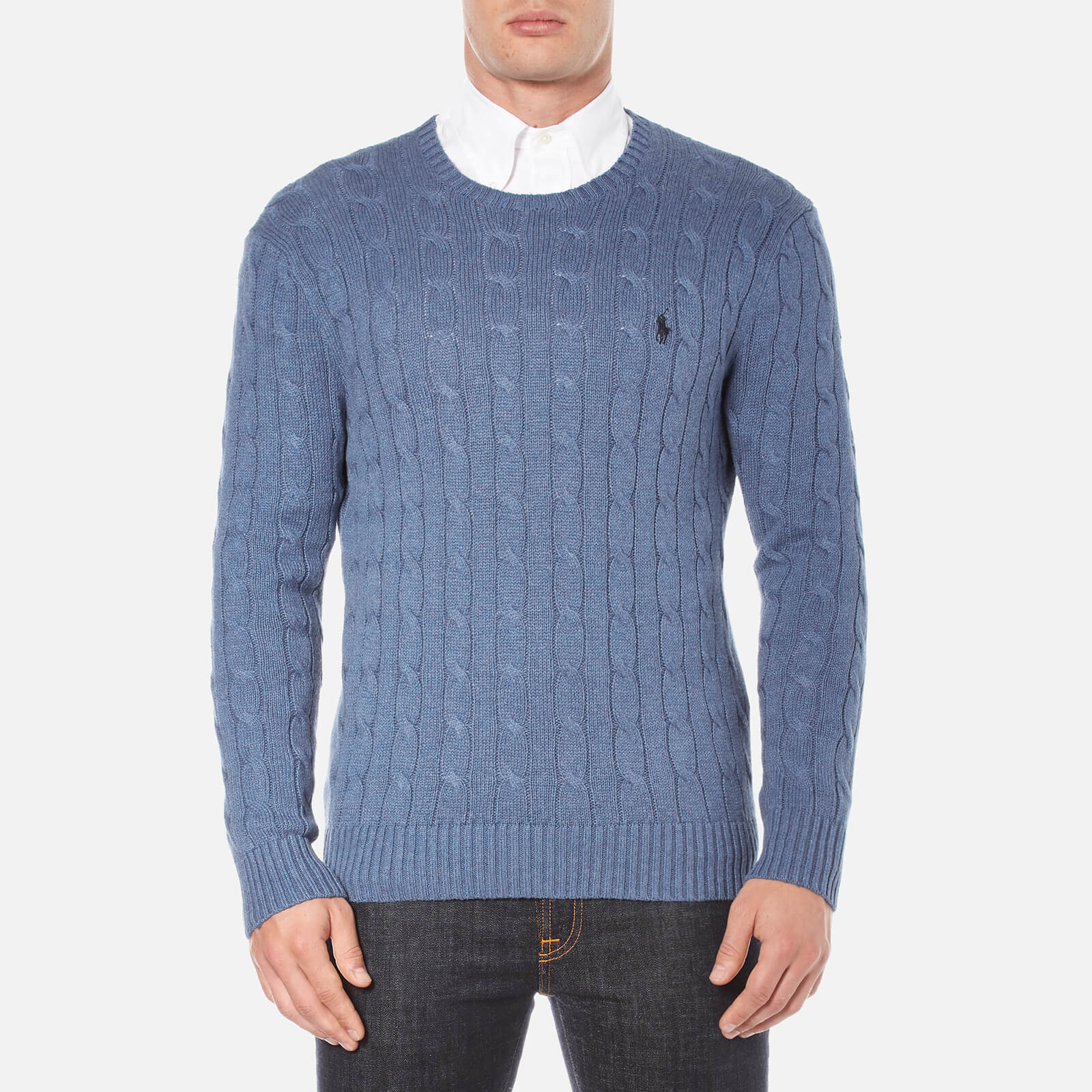 54792ca4e1d8 Polo Ralph Lauren Men's Long Sleeve Crew Neck Knitted Jumper - Night Blue  Heather - Free UK Delivery over £50