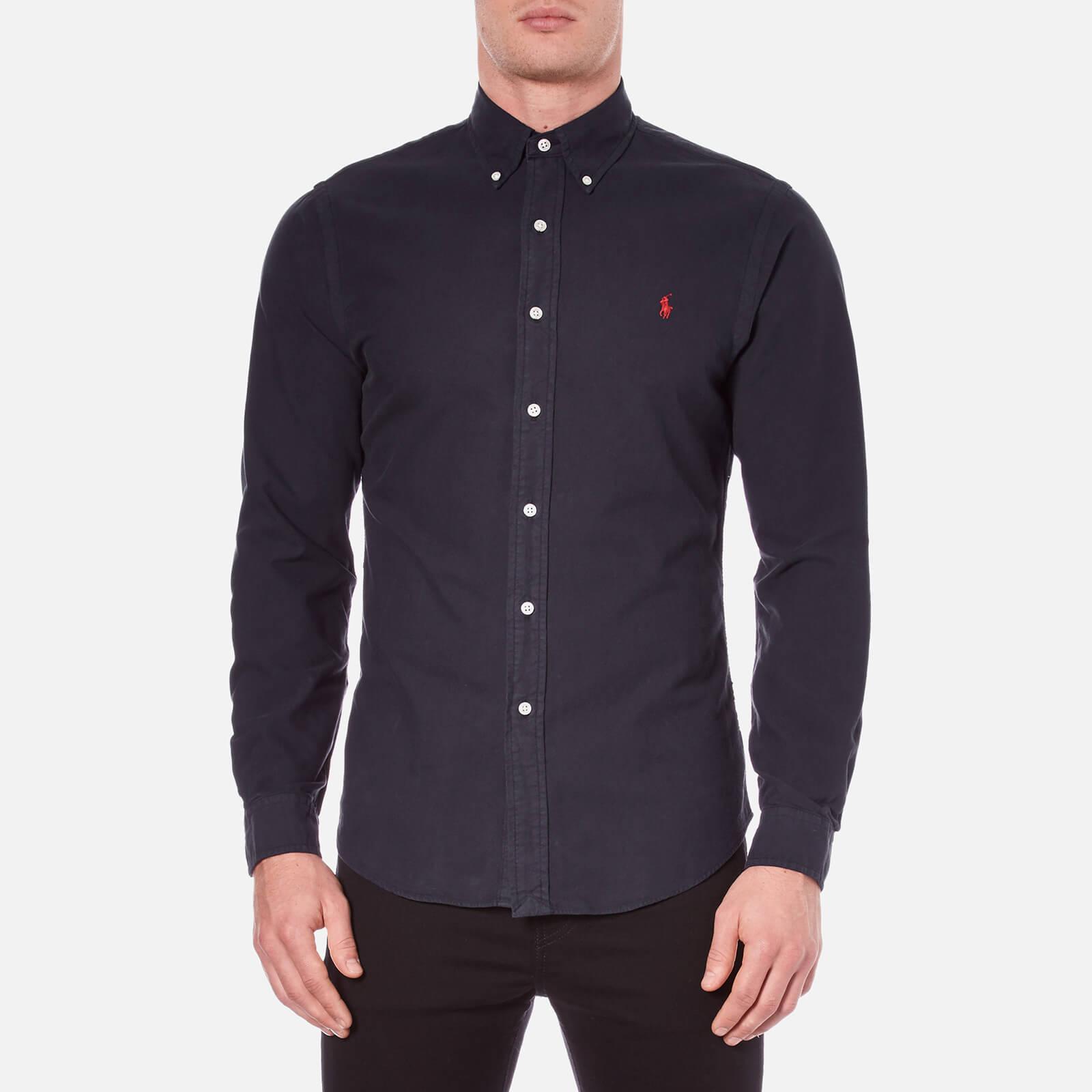 d5ccbb60b526ac Polo Ralph Lauren Men's Long Sleeve Button Down Shirt - Hunter Navy - Free  UK Delivery over £50