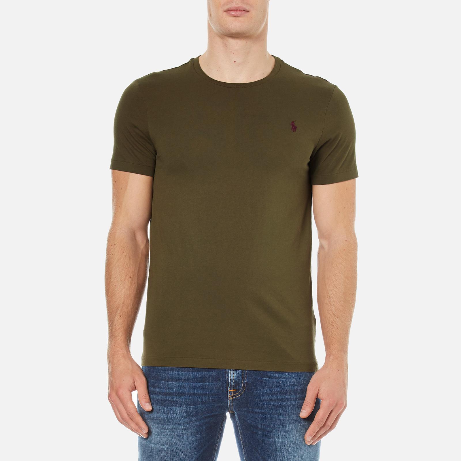 37c6270ec8721 Polo Ralph Lauren Men s Short Sleeve Crew Neck Custom Fit T-Shirt - Defender  Green - Free UK Delivery over £50