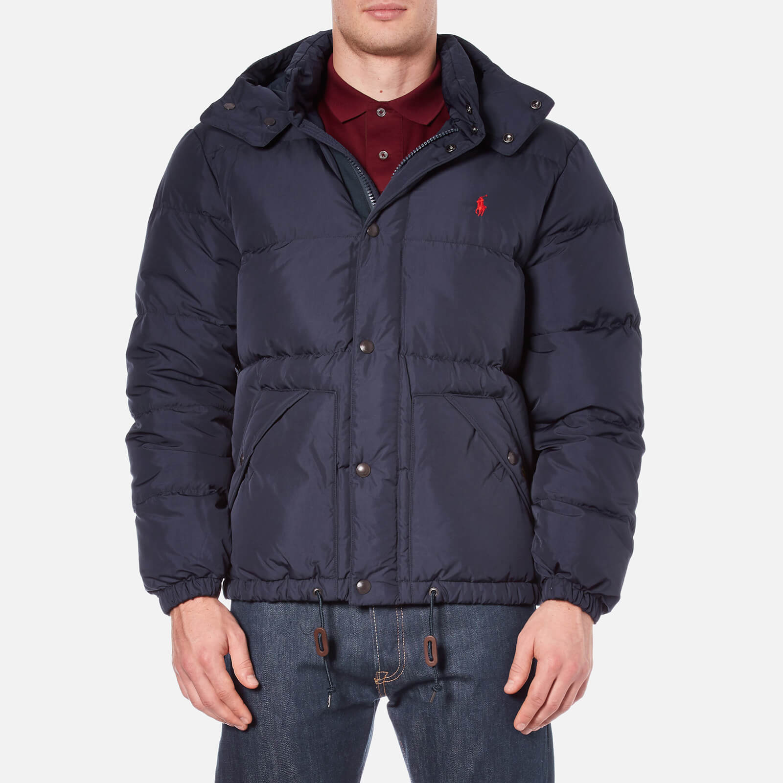 6cb473fc9 Polo Ralph Lauren Men s Down Filled Hooded Jacket - Worth Navy - Free UK  Delivery over £50