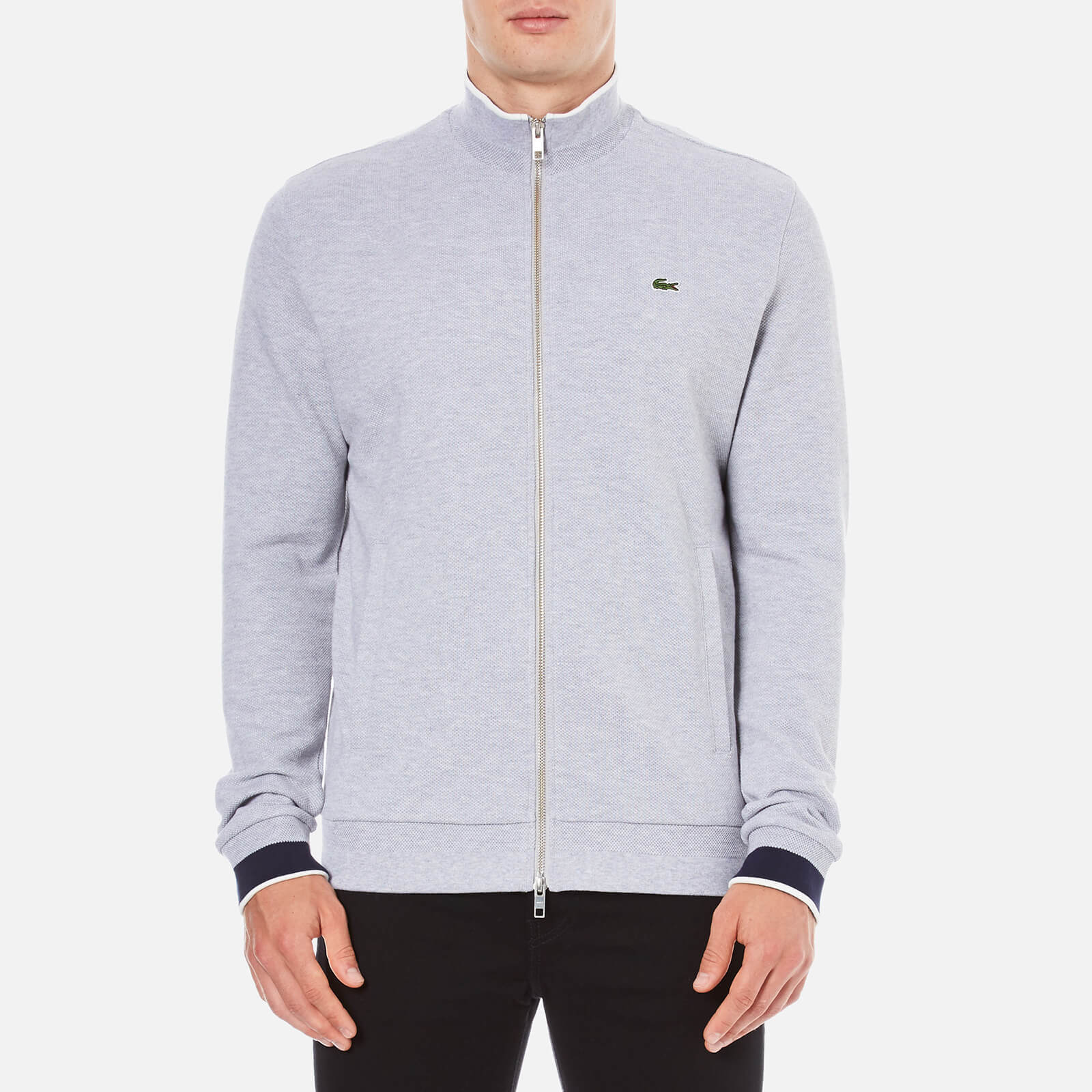 bc46aa5698 Lacoste Men's Zip Through Sweatshirt - Silver Chine - Free UK Delivery over  £50