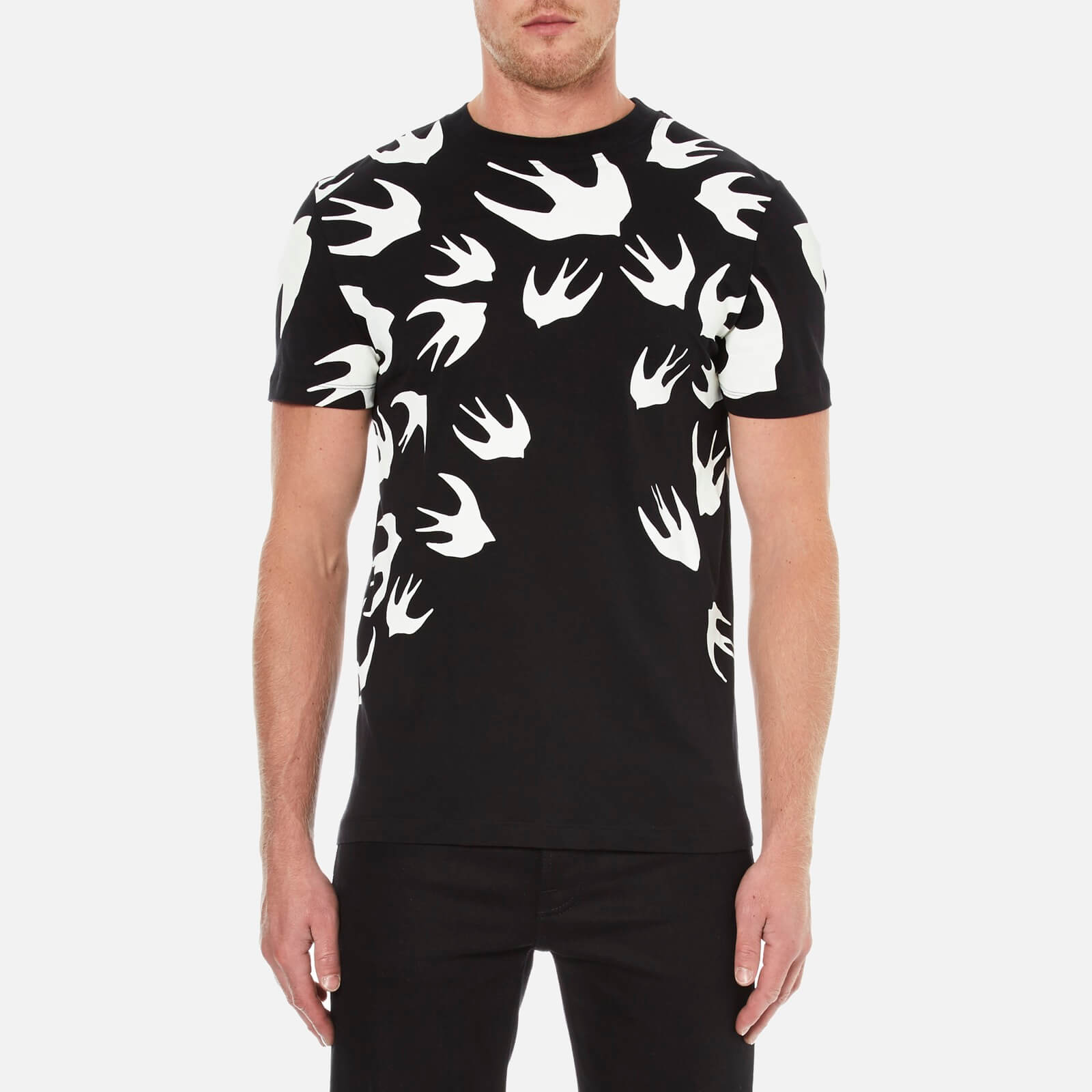 6eb729947765 ... McQ Alexander McQueen Men s Swallow Swarm Pigment T-Shirt - Darkest  Black