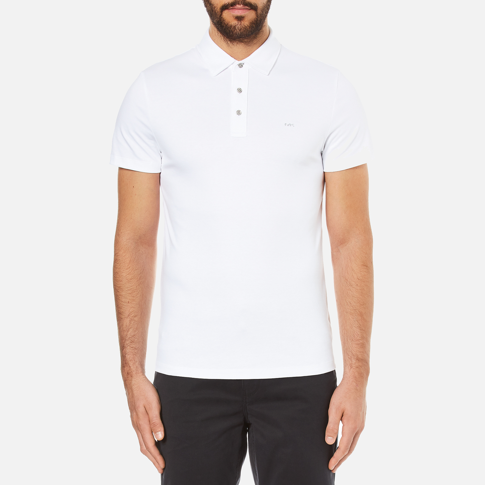 e941ba08 Michael Kors Men's Liquid Cotton Short Sleeve Polo Shirt - White - Free UK  Delivery over £50