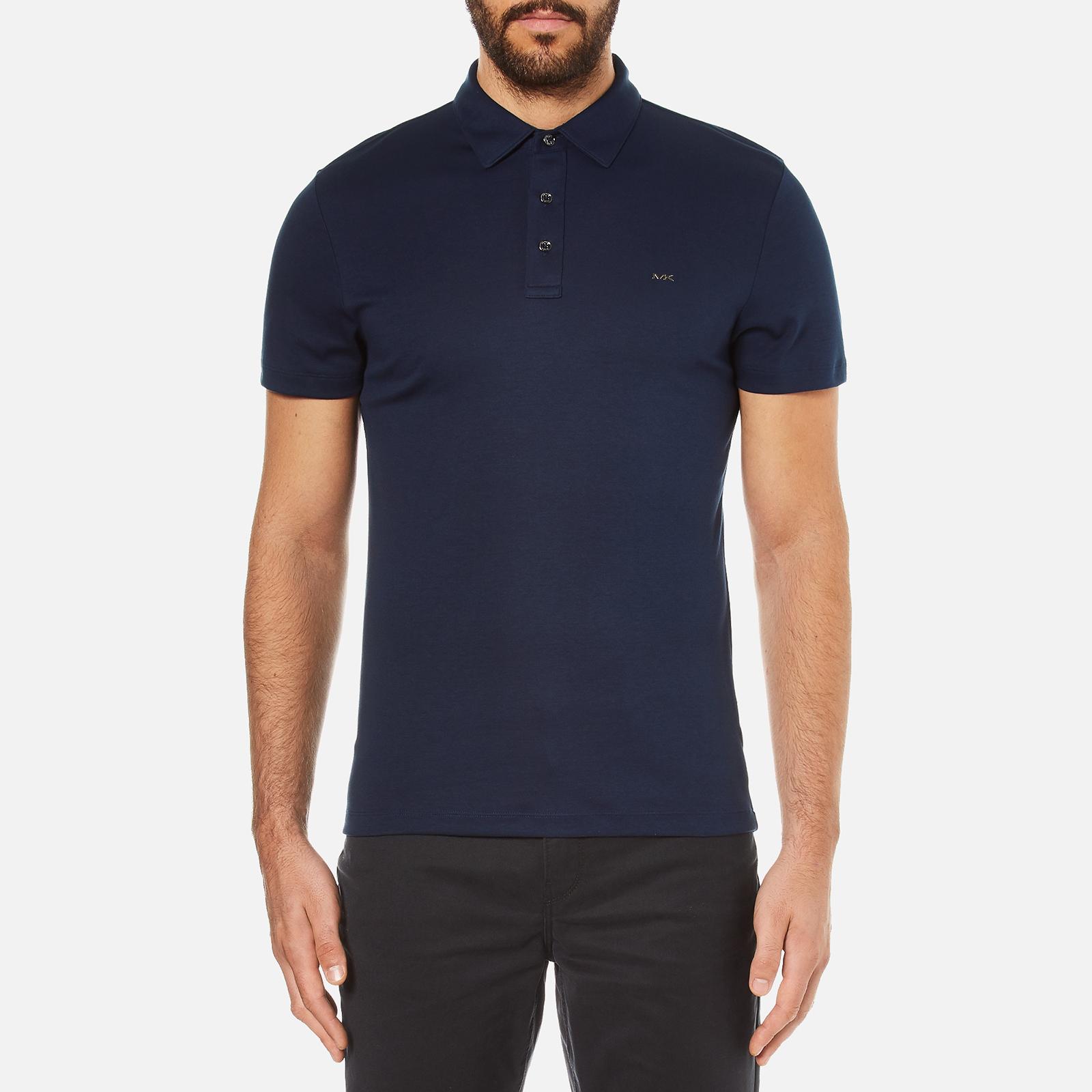 cd2011b10 Michael Kors Men s Liquid Cotton Short Sleeve Polo Shirt - Midnight - Free  UK Delivery over £50