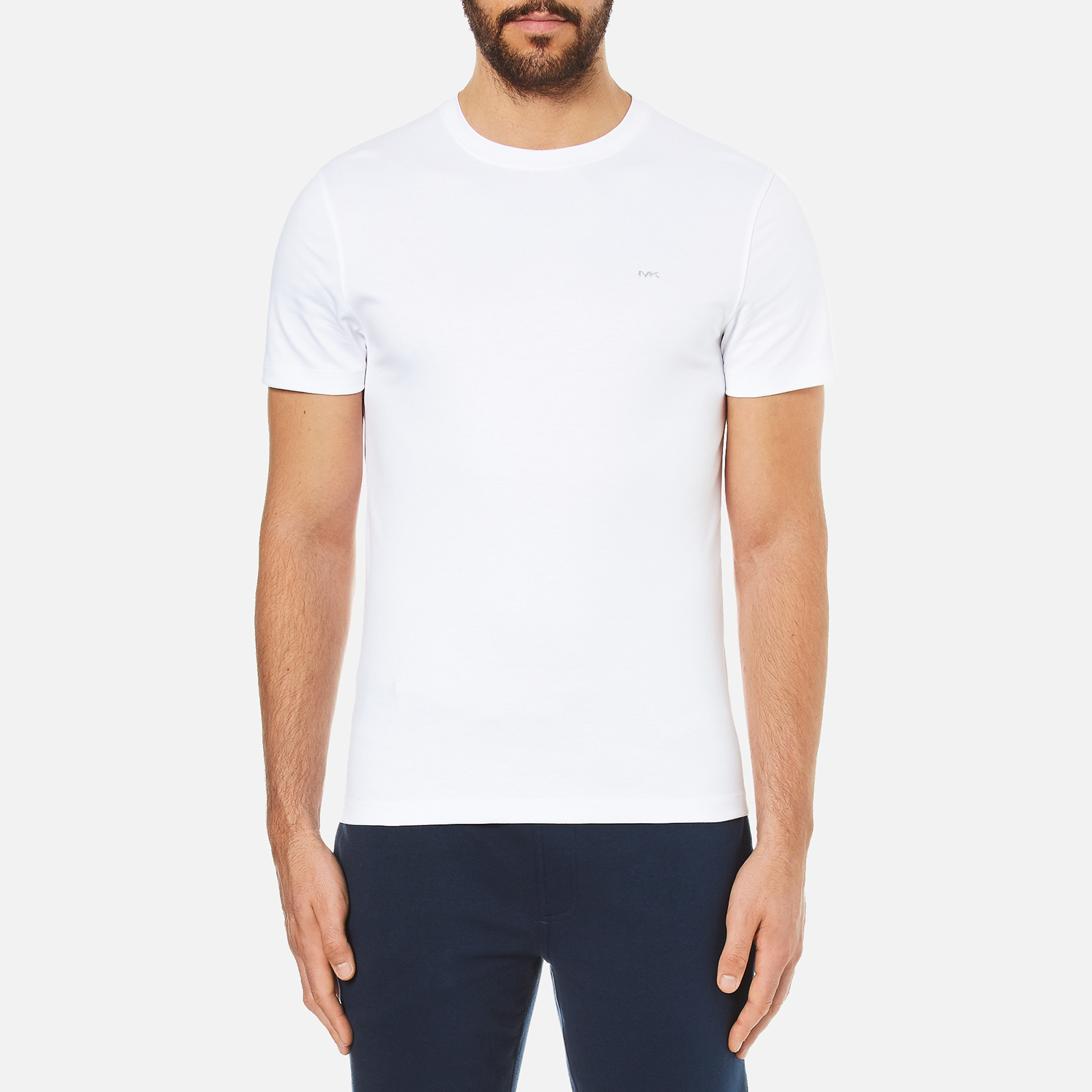 c03ddbfc1 Michael Kors Men's Liquid Jersey Crew Neck Short Sleeve T-Shirt - White -  Free UK Delivery over £50