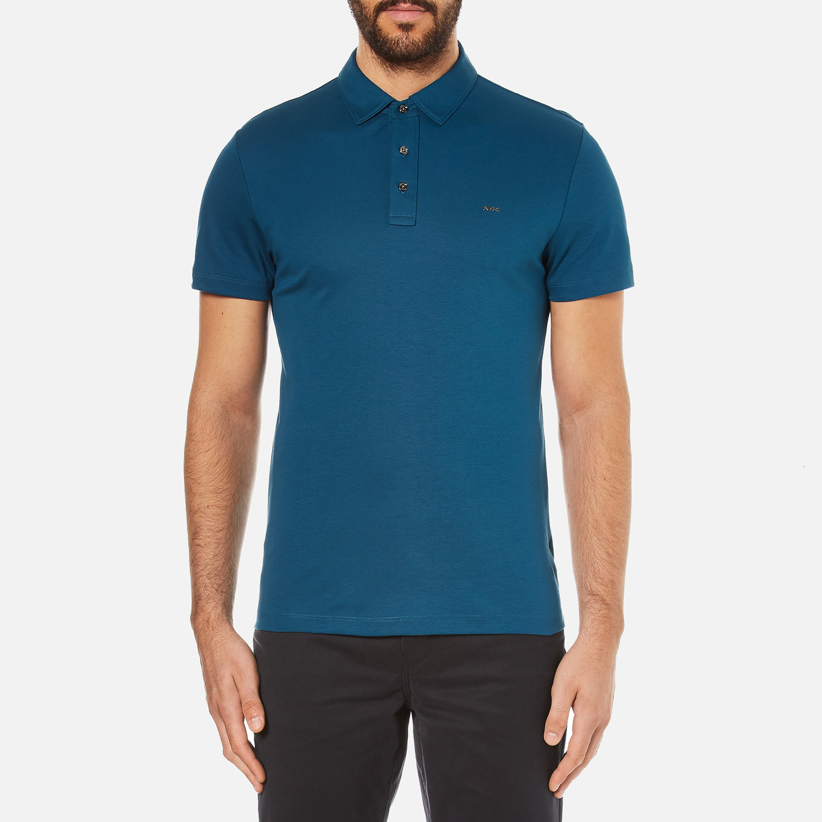396b6a79 Michael Kors Men's Sleek MK Polo Shirt - Pacific Blue - Free UK Delivery  over £50