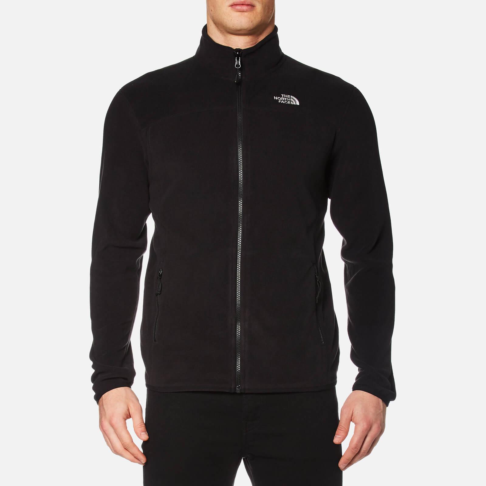 a071aa741cb The North Face Men's 100 Glacier Full Zip Fleece - TNF Black Clothing |  TheHut.com