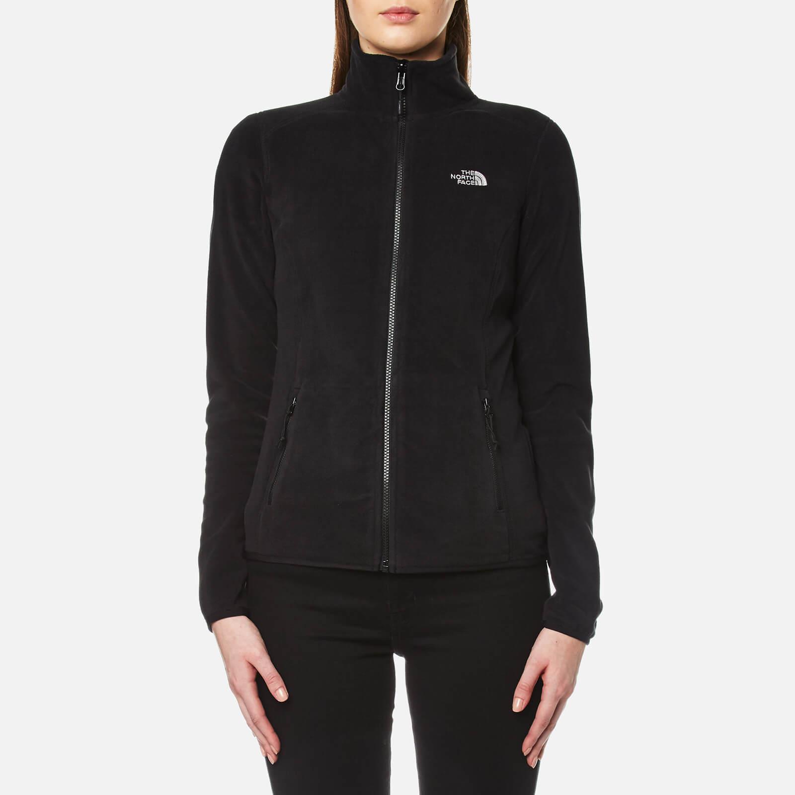 84d7fee5527 The North Face Women's 100 Glacier Full Zip Fleece - TNF Black Mens Clothing  | TheHut.com