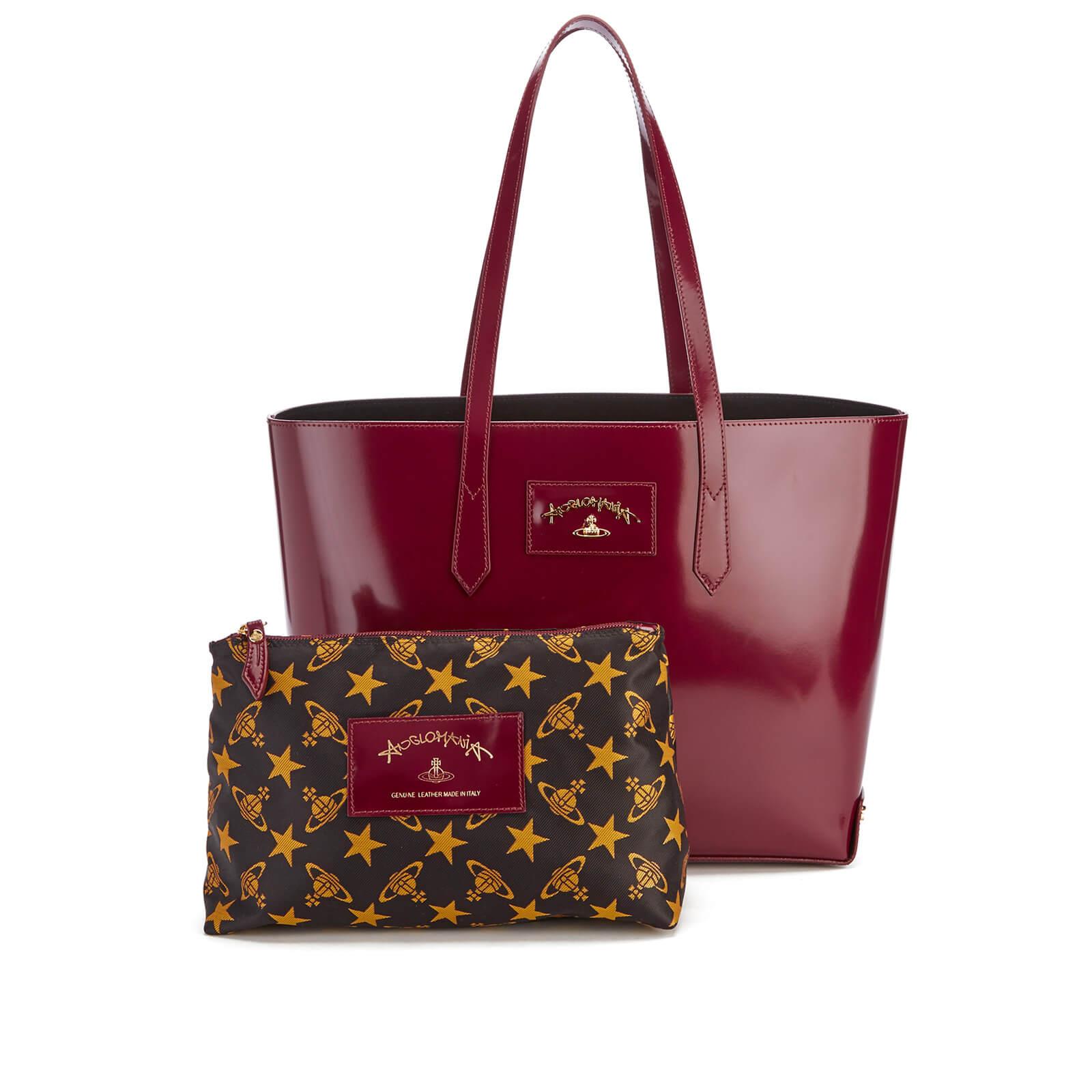 b0108b9da4 Vivienne Westwood Women's Newcastle Stud Tote Bag - Bordeaux - Free UK  Delivery over £50
