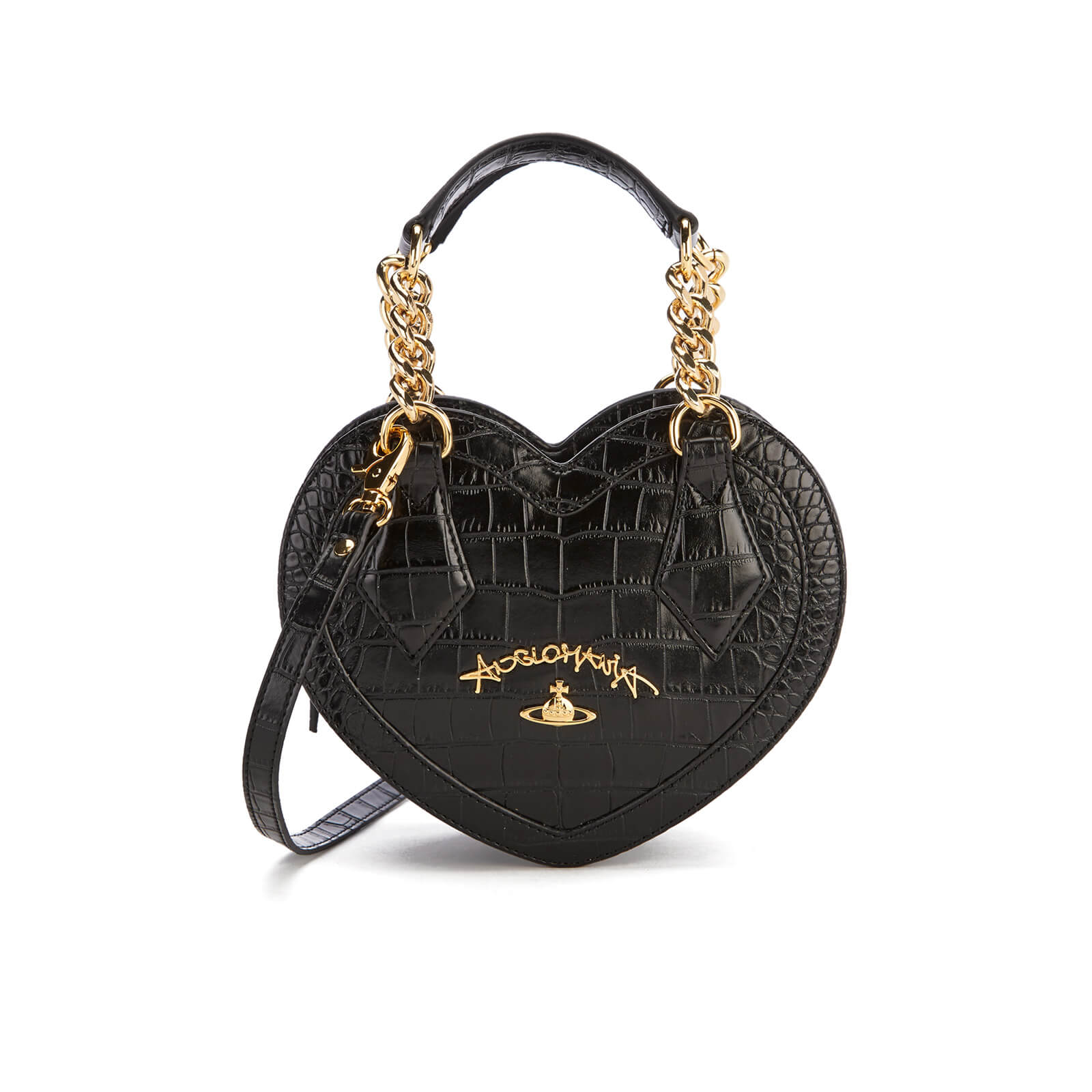 Vivienne Westwood Women s Dorset Croc Heart Cross Body Bag - Black - Free  UK Delivery over £50 72f26aa342cb6