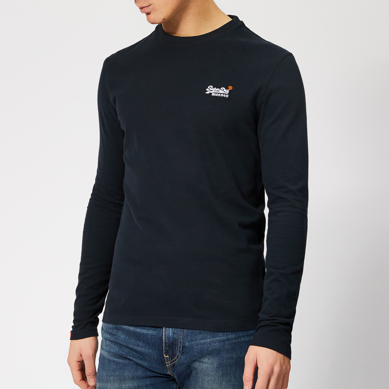 Superdry Long Sleeved Vintage Embroidery T-shirt in Navy