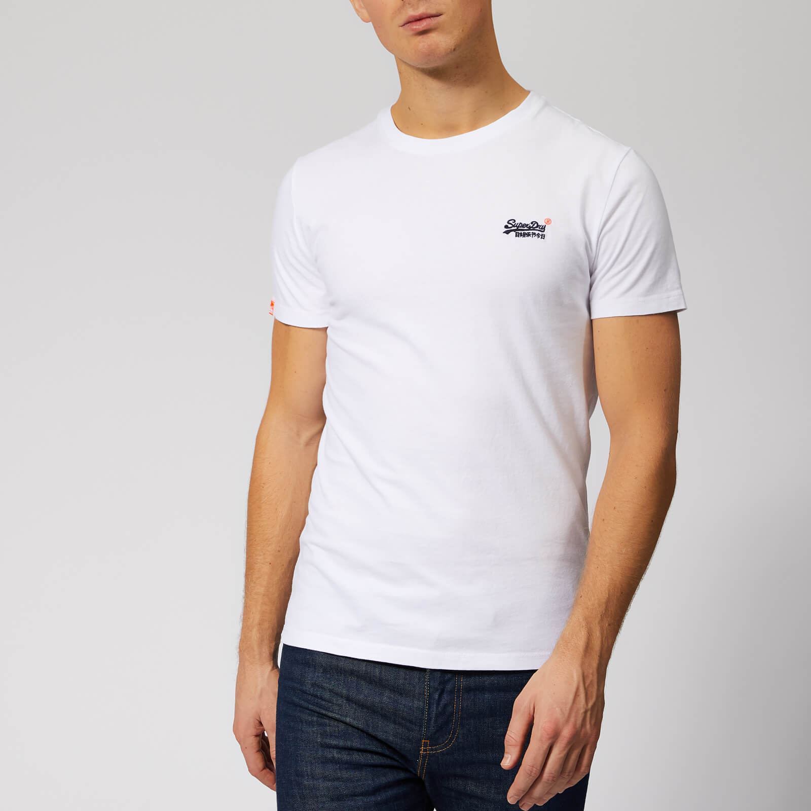 Superdry Mens New Orange Label Vintage Embroidered T Shirt