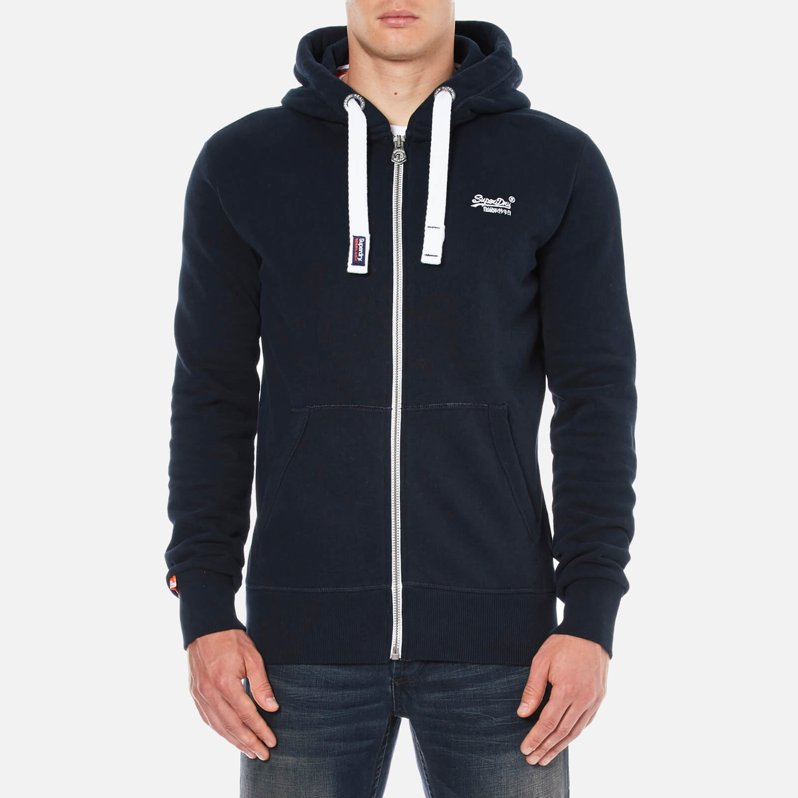 89ab0c46ec68 Superdry Men's Orange Label Zip Hoody - Eclipse Navy Mens Clothing |  TheHut.com