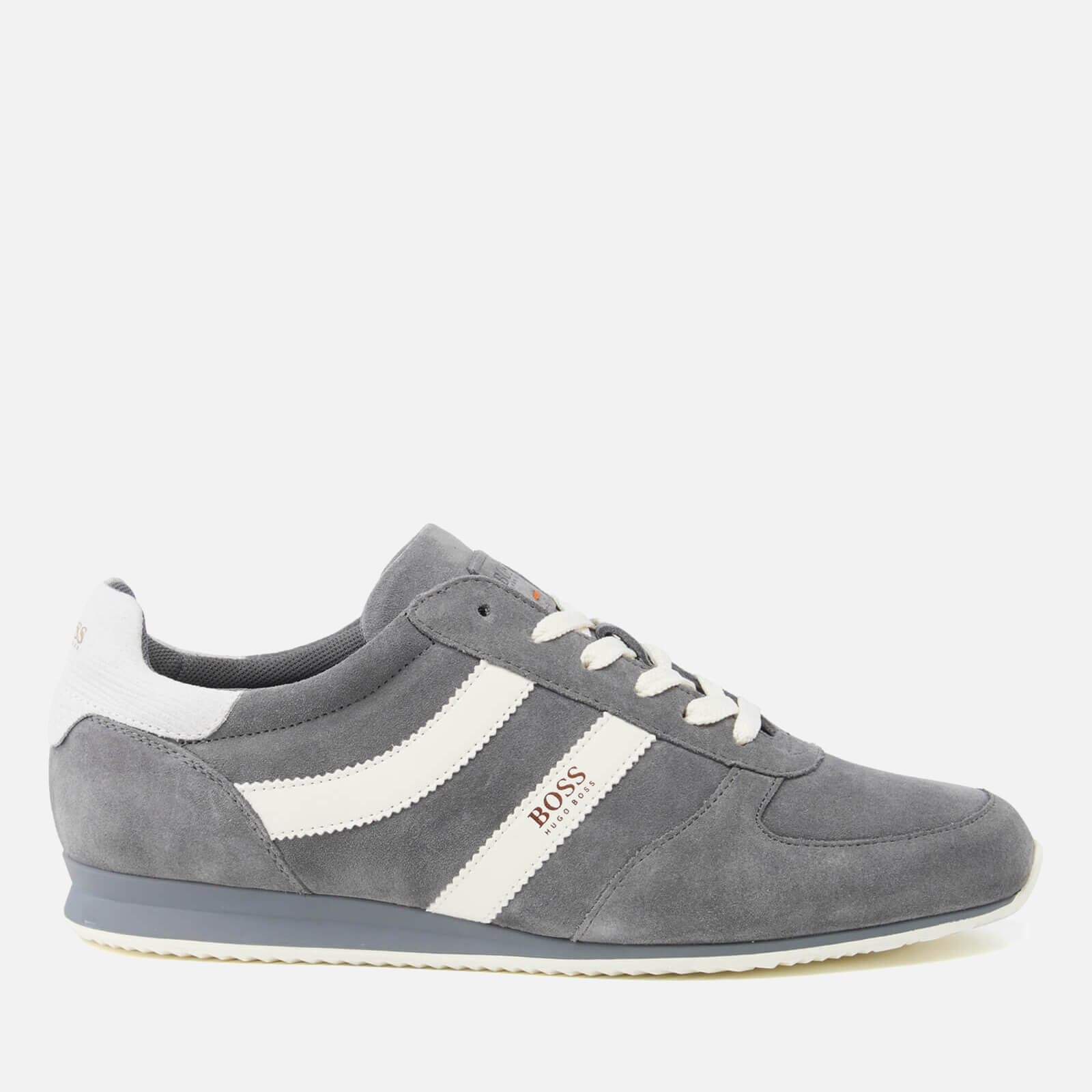 43f8b37dbc700 BOSS Orange Men's Orland Runn Suede Trainers - Medium Grey | FREE UK  Delivery | Allsole
