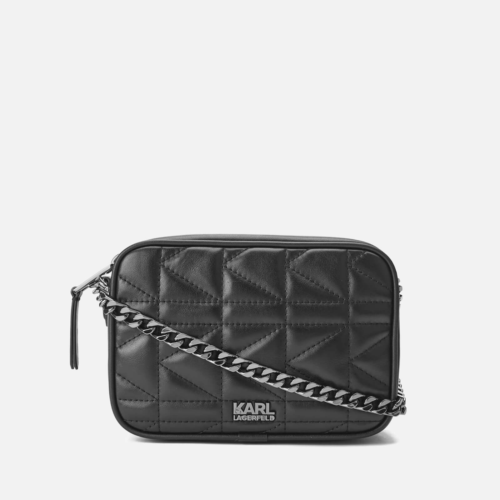 2da23dbd84fb Karl Lagerfeld Women s K Kuilted Small Cross Body Bag - Black Black - Free  UK Delivery over £50