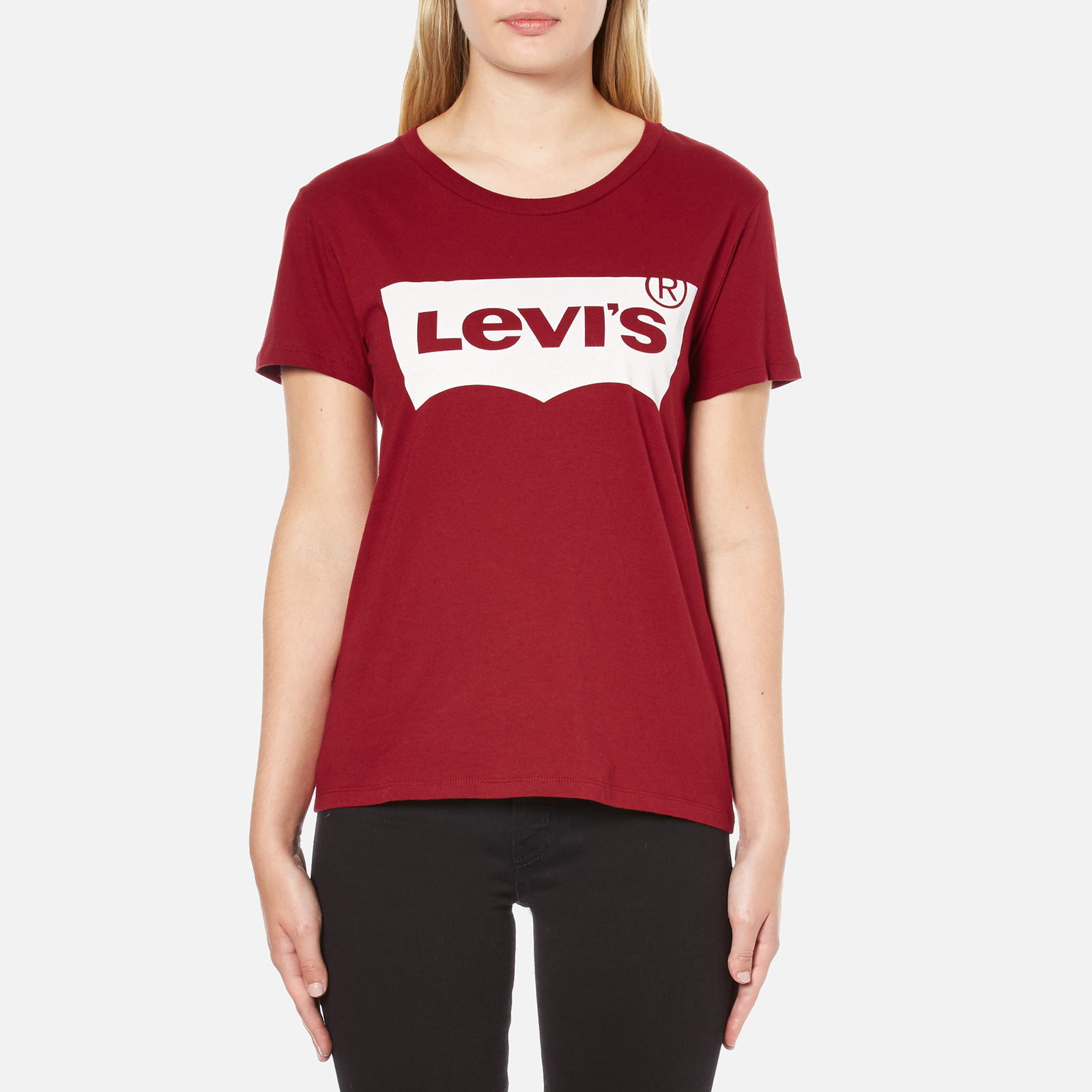 4123bdf1249 Levi s Women s The Perfect T-Shirt - Sun Dried Tomato - Free UK Delivery  over £50