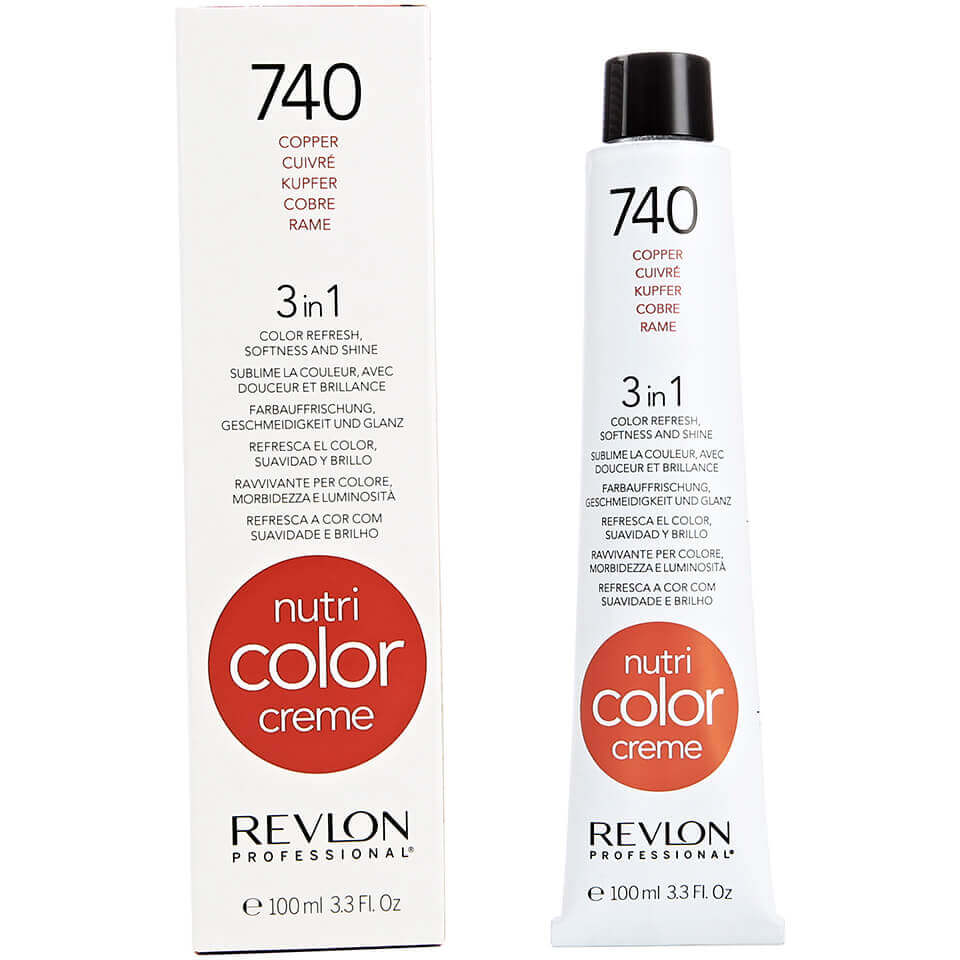 Uitgelezene Revlon Professional Nutri Color Creme 740 Copper 100ml | Free US BP-06