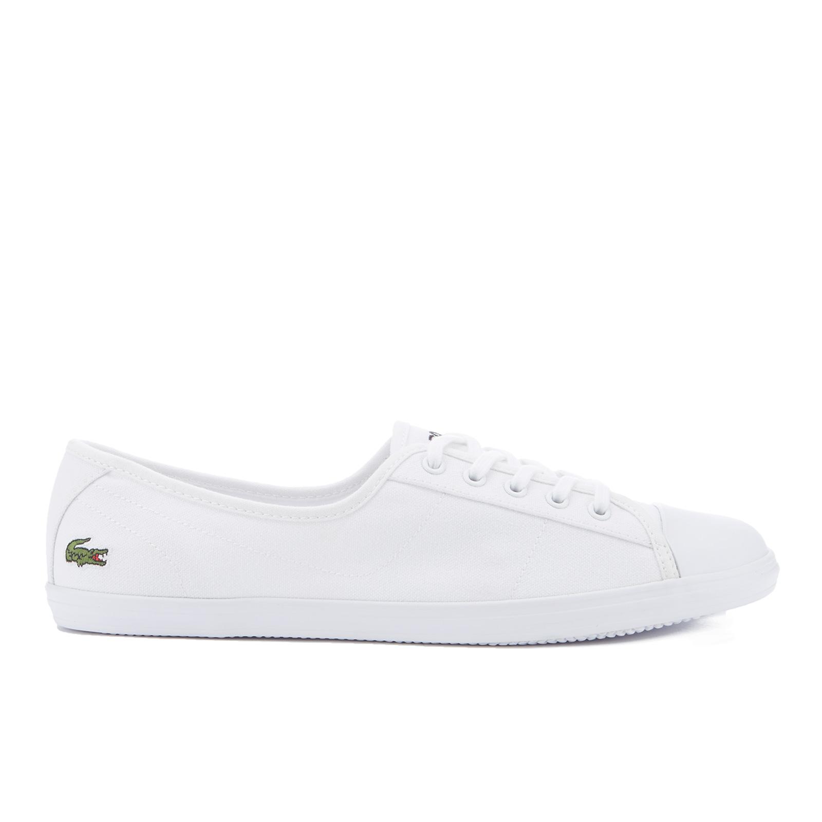 26368555f6e12b Lacoste Women s Ziane Bl 2 Canvas Plimsols - White - Free UK Delivery over  £50