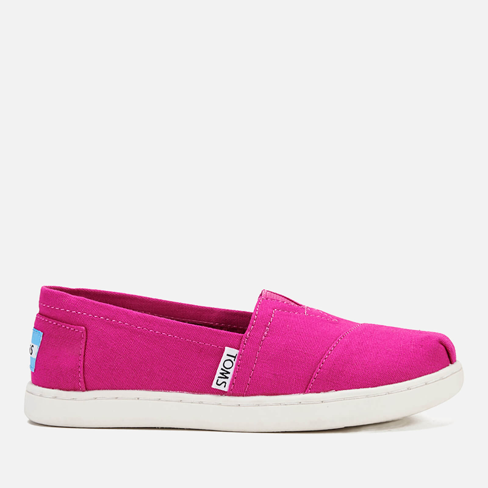 7a8a7301a90 TOMS Kids' Seasonal Classics Slip-On Pumps - Fuchsia | FREE UK Delivery |  Allsole