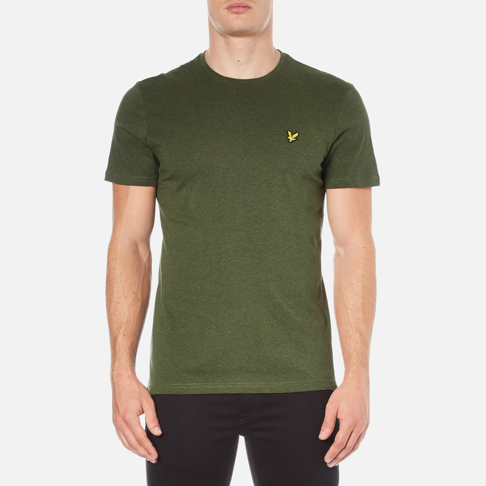 35c8df575e98d Lyle & Scott Men's Crew Neck T-Shirt - Dark Sage Clothing | TheHut.com
