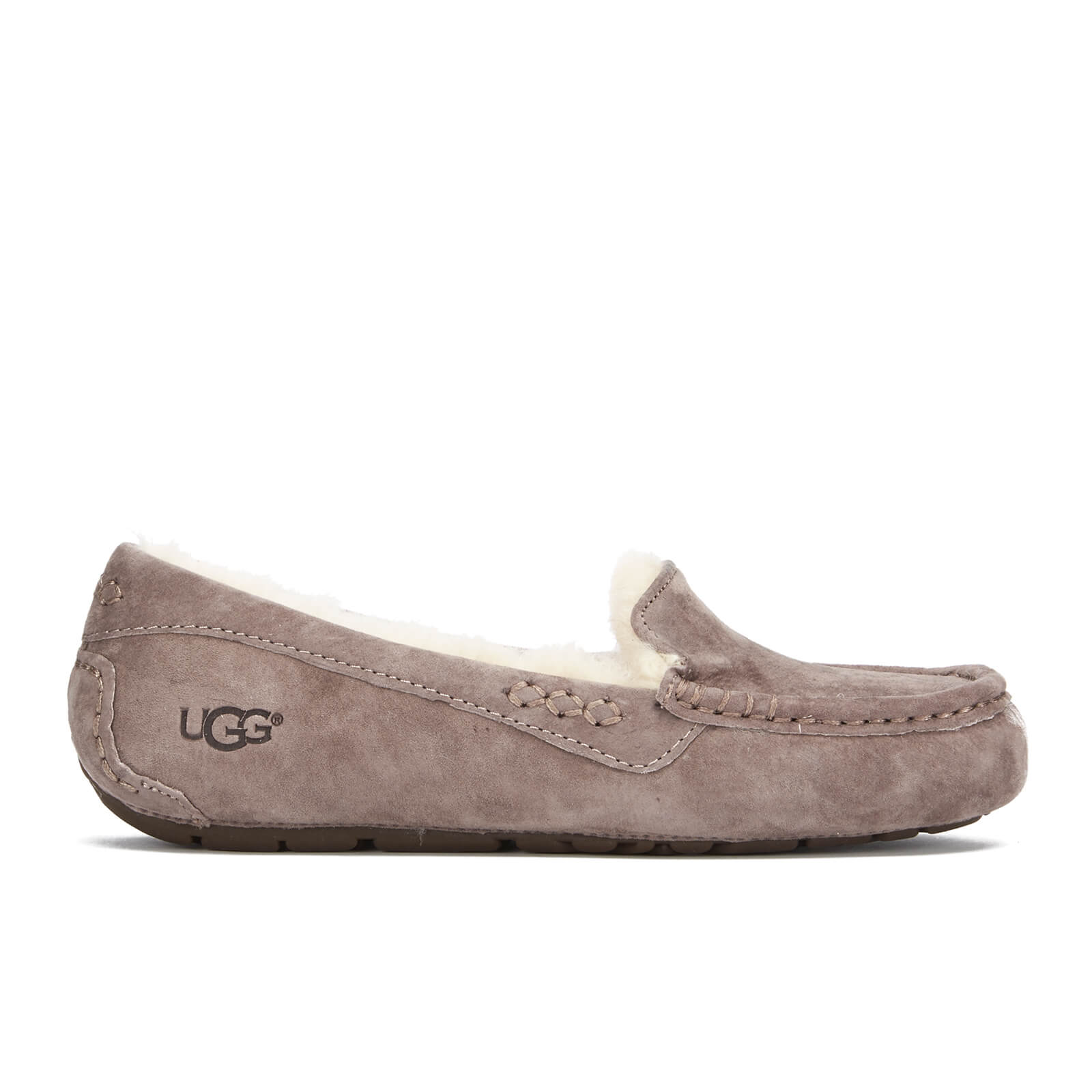 3be115b680a UGG Women's Ansley Moccasin Suede Slippers - Stormy Grey