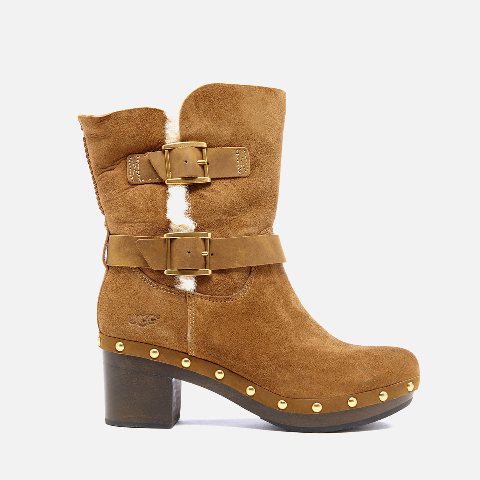 91b093ab2ee UGG Women's Brea Clog Suede Buckle Boots - Chestnut