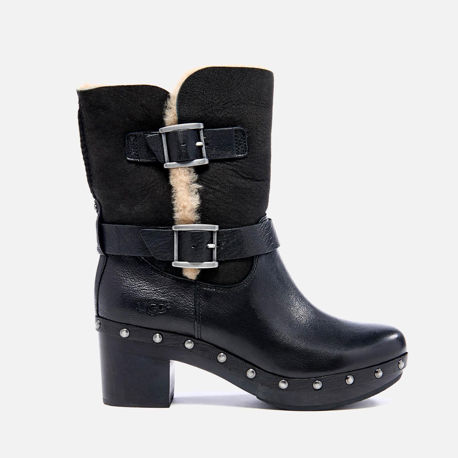 0c687b5d026 UGG Women's Brea Clog Suede Buckle Boots - Black