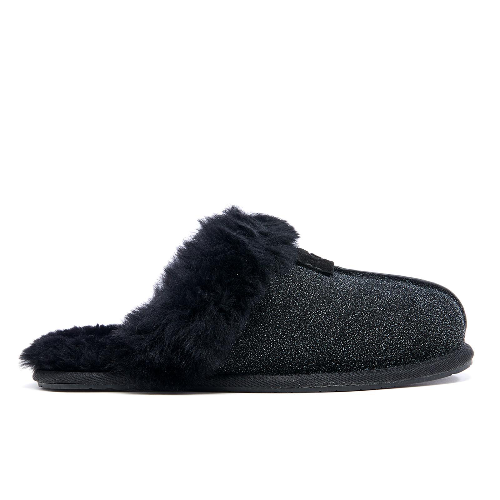 ae789732b67 UGG Women's Scuffette II Serein Shimmer Suede Slippers - Black