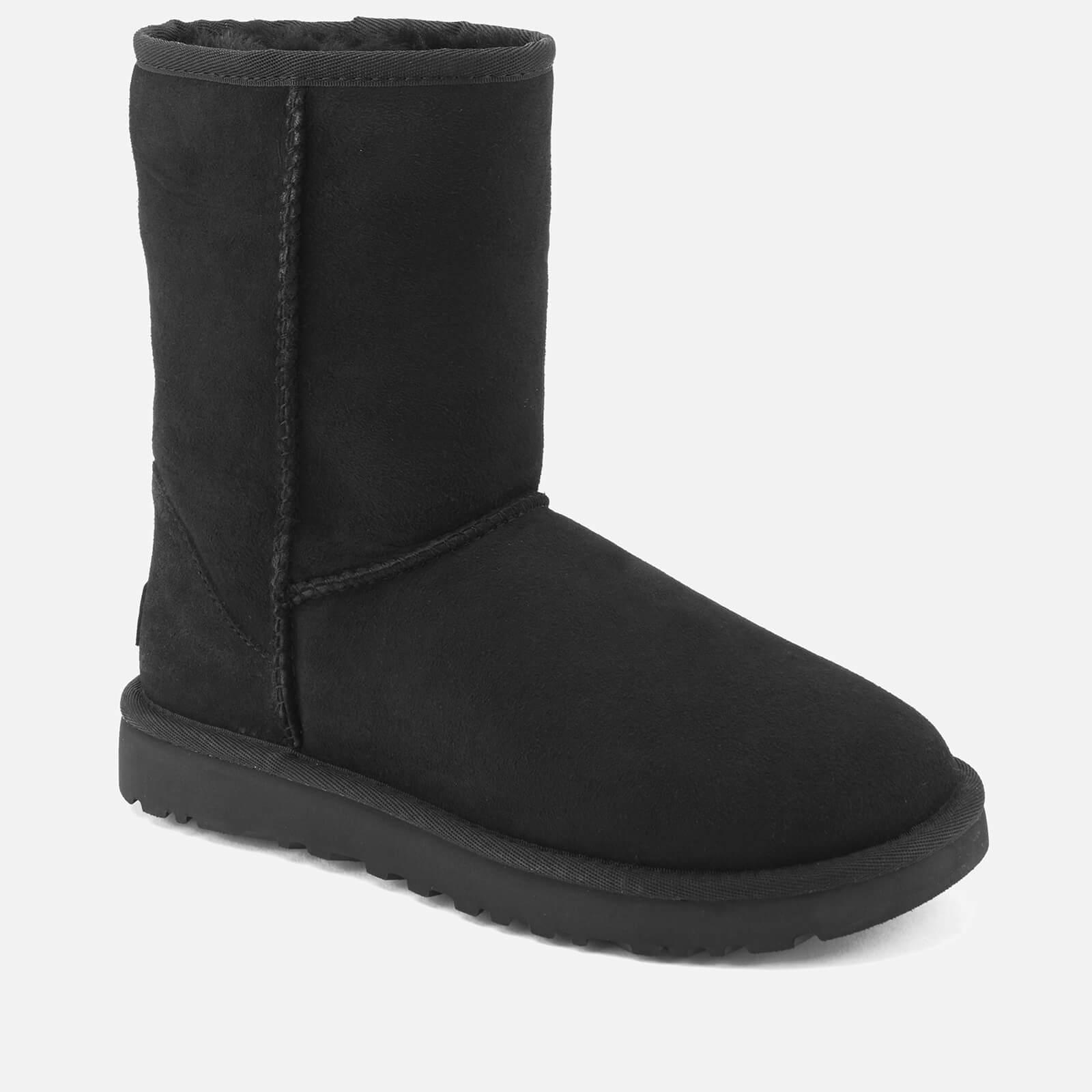 UGG Women's Classic Short II Sheepskin Boots - Black