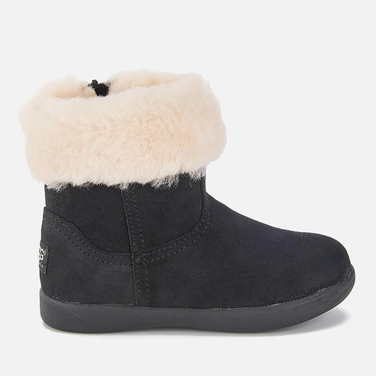 554508ad41d UGG Toddlers' Jorie II Sheepskin Collar Suede Boots - Black