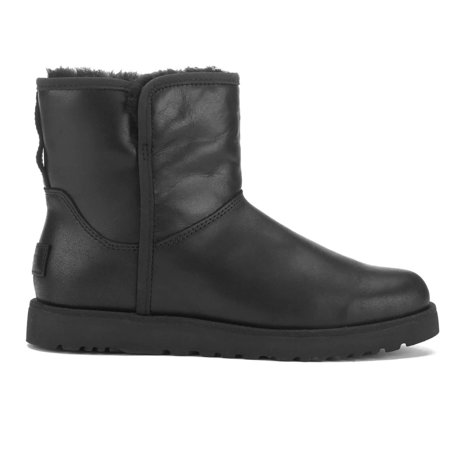 1fbb56708cd UGG Women's Cory Leather Classic Slim Sheepskin Boots - Black
