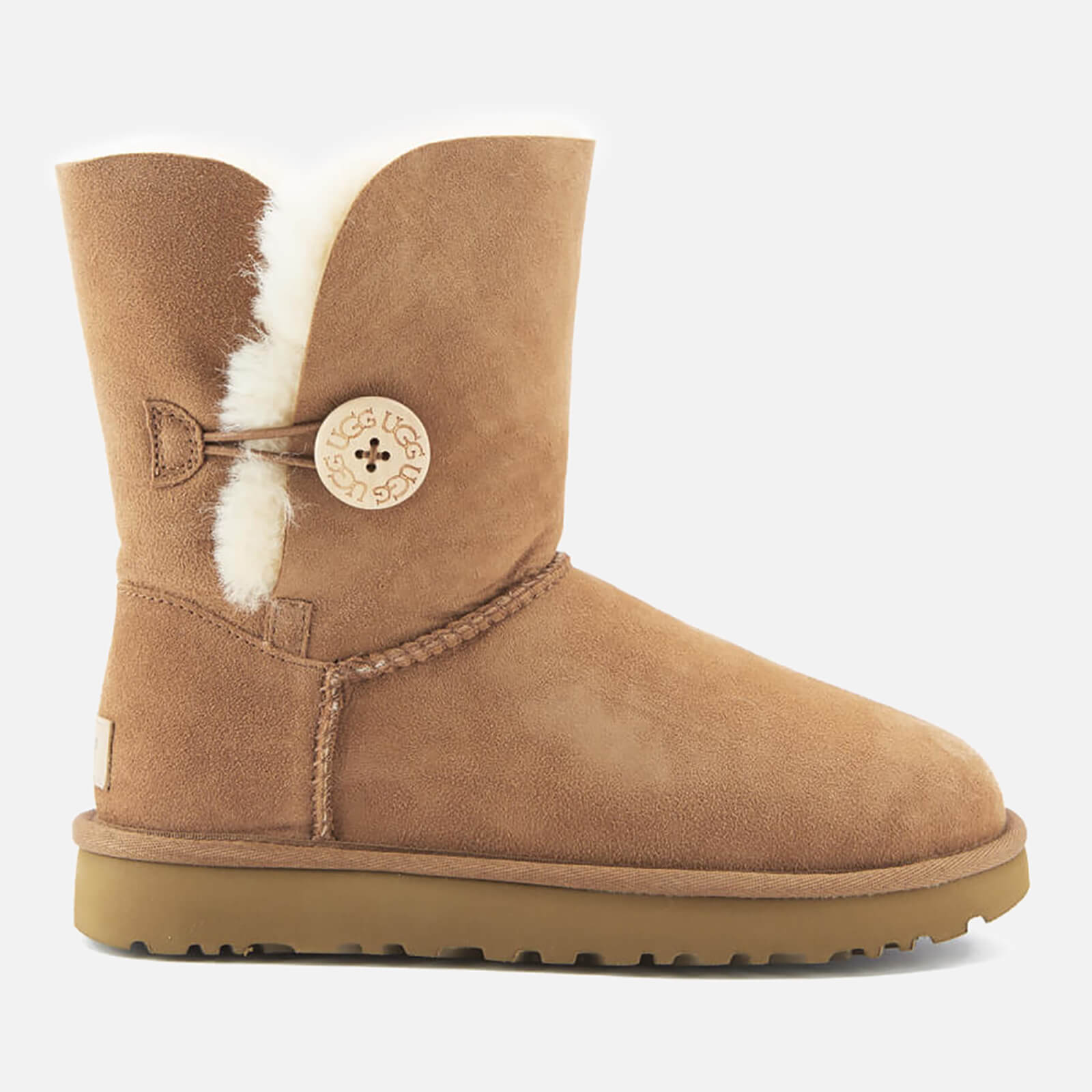 01ea8121f UGG Women's Bailey Button II Sheepskin Boots - Chestnut - Free UK Delivery  over £50