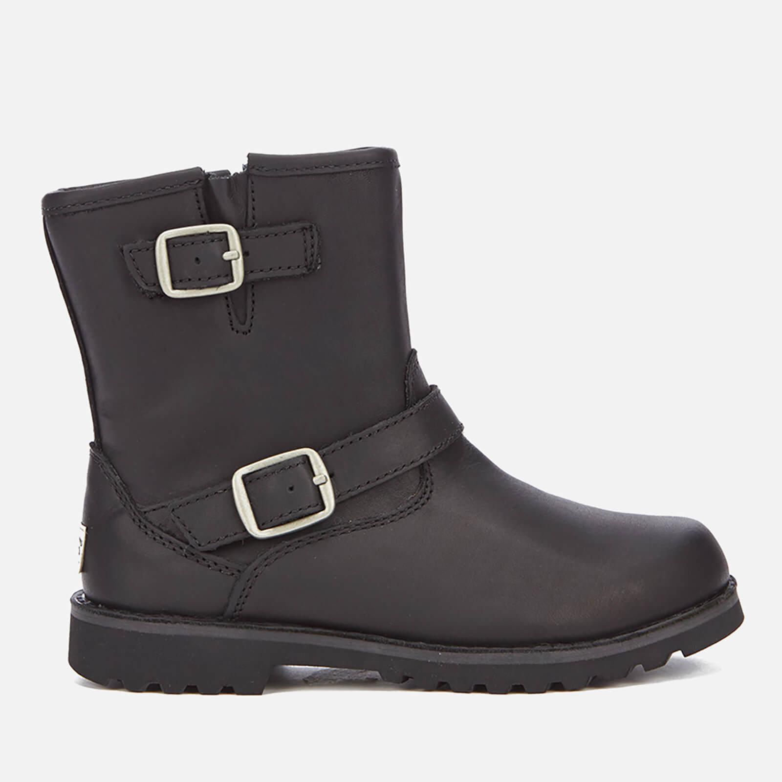 d04d394480d UGG Kids' Harwell Leather Biker Boots - Black