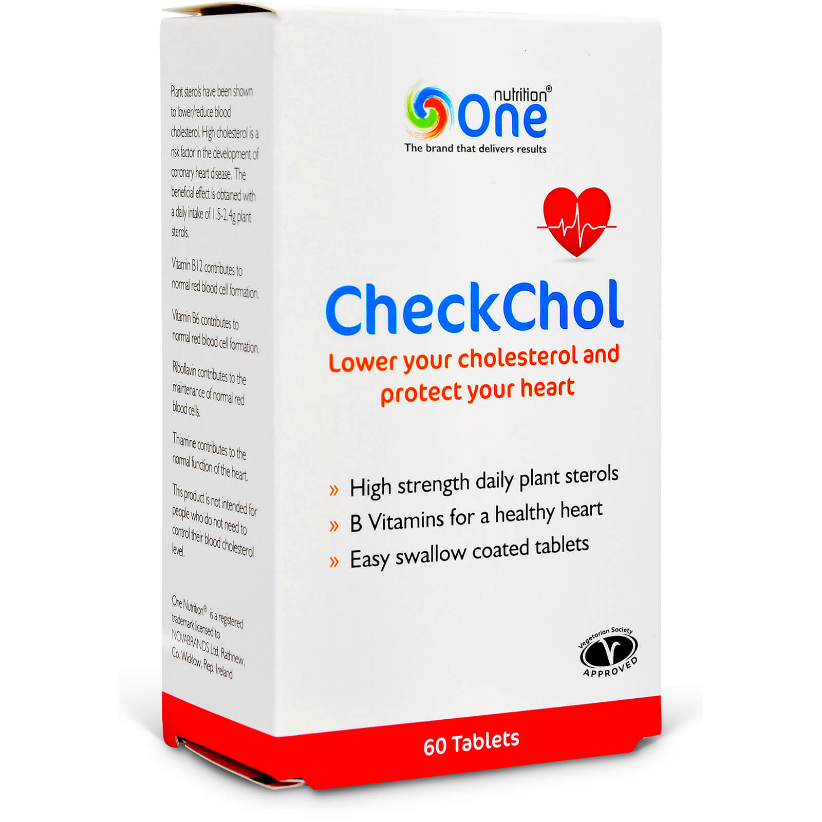 CheckChol Lower Your Cholesterol and Protect Your Heart - 60 Tablets