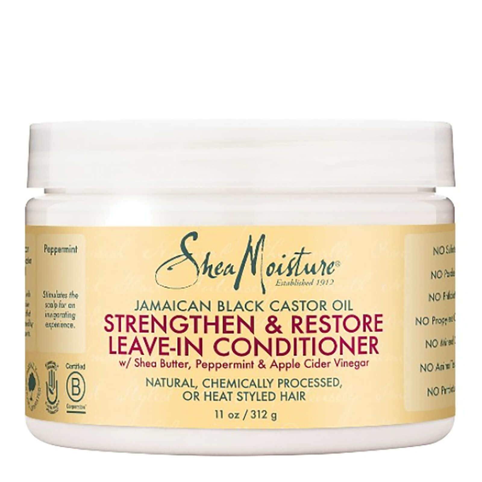 6121949ae3b Shea Moisture Jamaican Black Castor Oil Strengthen, Grow & Restore Leave-In  Conditioner 312g   Free Shipping   Lookfantastic