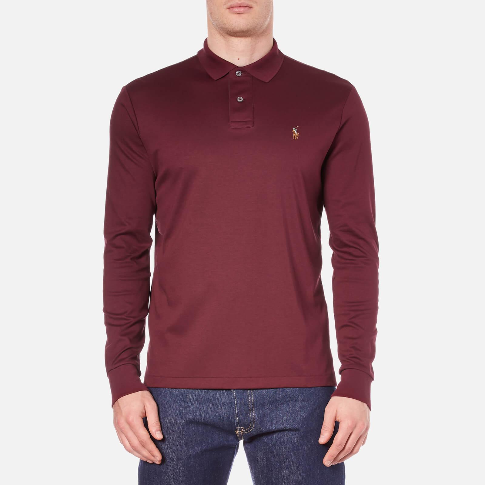 e31da426c Polo Ralph Lauren Men s Long Sleeve Custom Fit Polo Shirt - Classic Wine -  Free UK Delivery over £50